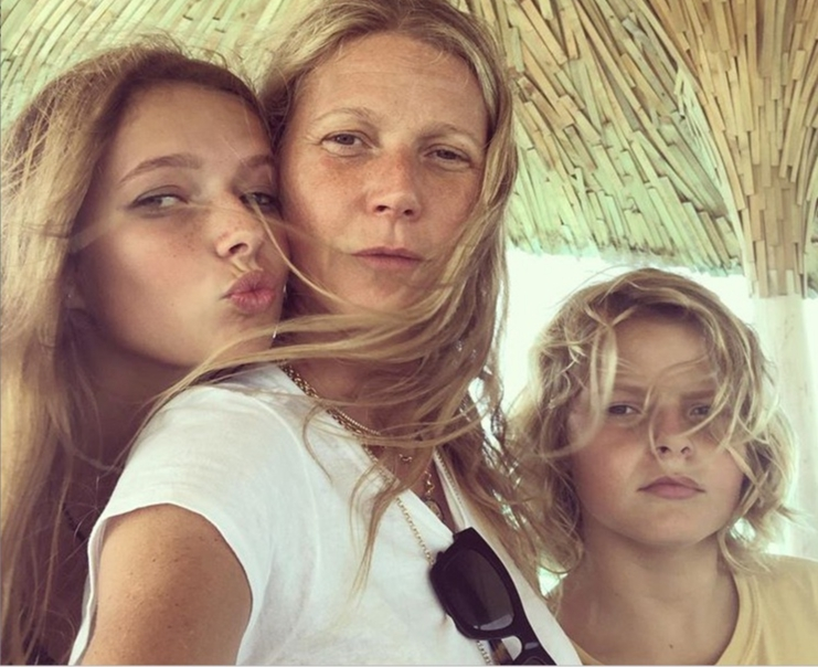 """Thank you to my two beauties for the best morning, and for my entire life. I love you both so much. I love all you mamas out there! Happy Mother's Day!!""   Gwyneth Paltrow, who shared this photo of herself celebrating with her children, Apple and Moses Martin, on May 12"