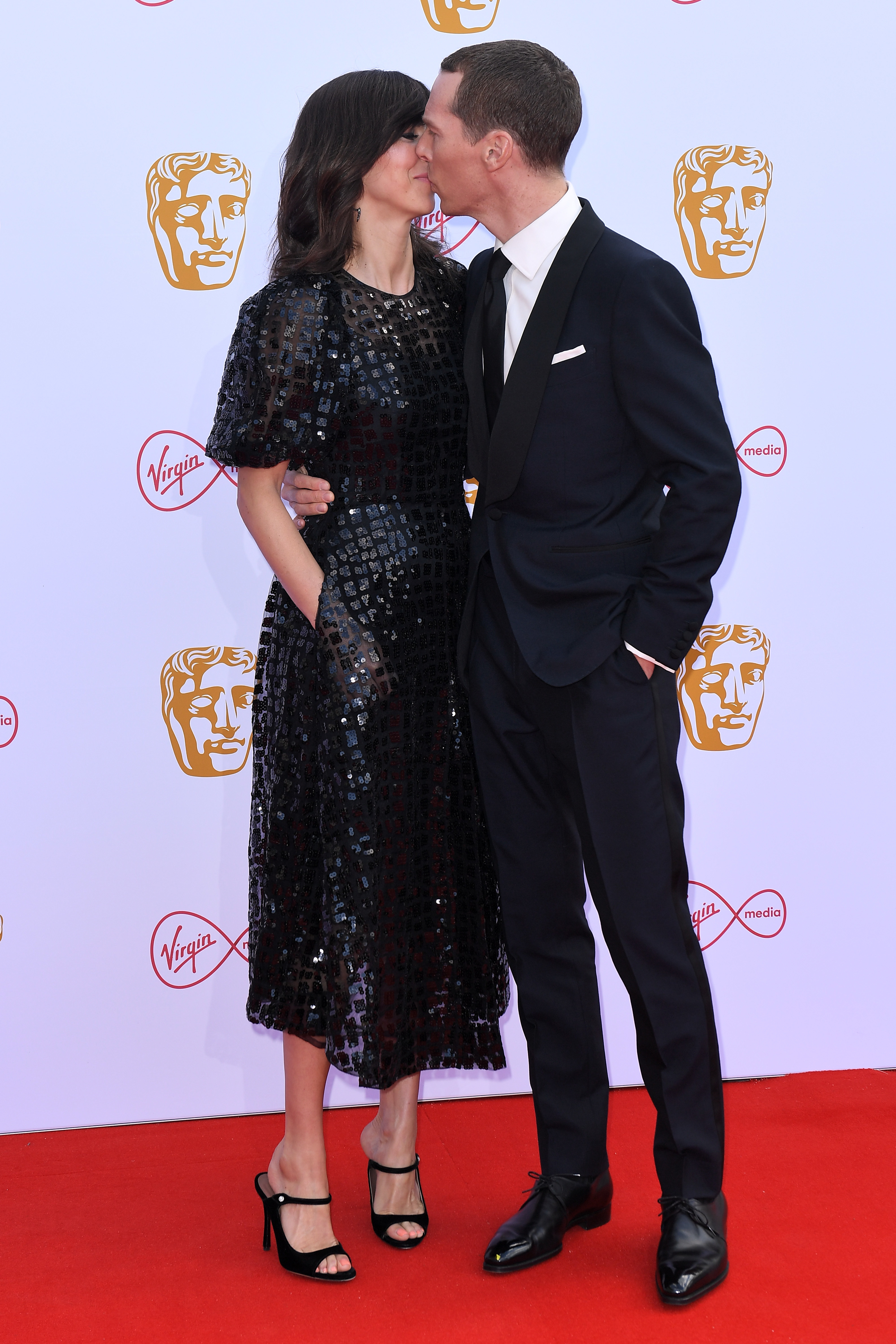 Benedict Cumberbatch and Sophie Hunter packed on the PDA while attending the British Academy Television Awards in London, England on May 12, 2019.
