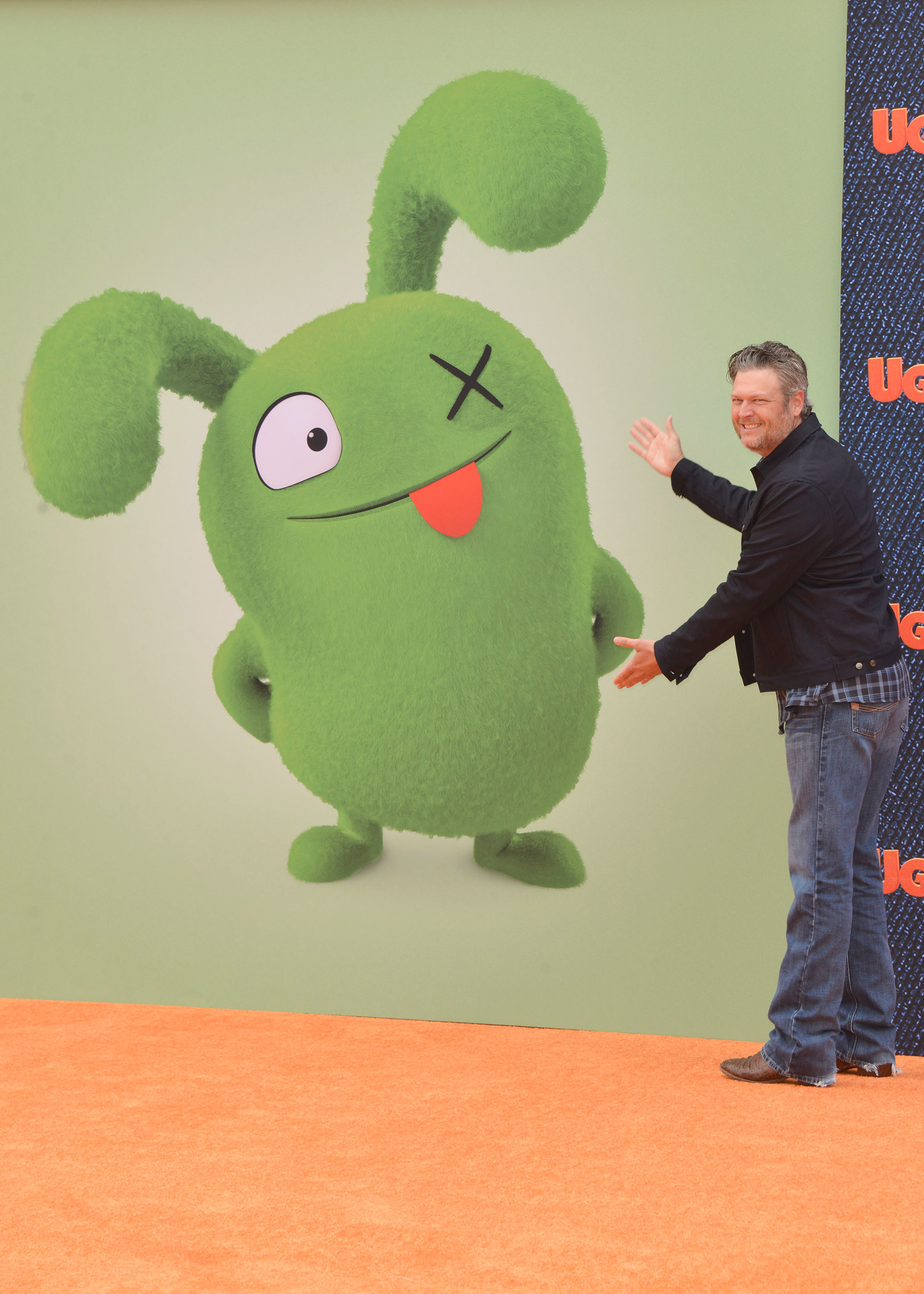 """Blake Shelton attends the """"Ugly Dolls"""" premiere in Los Angeles on April 27, 2019."""