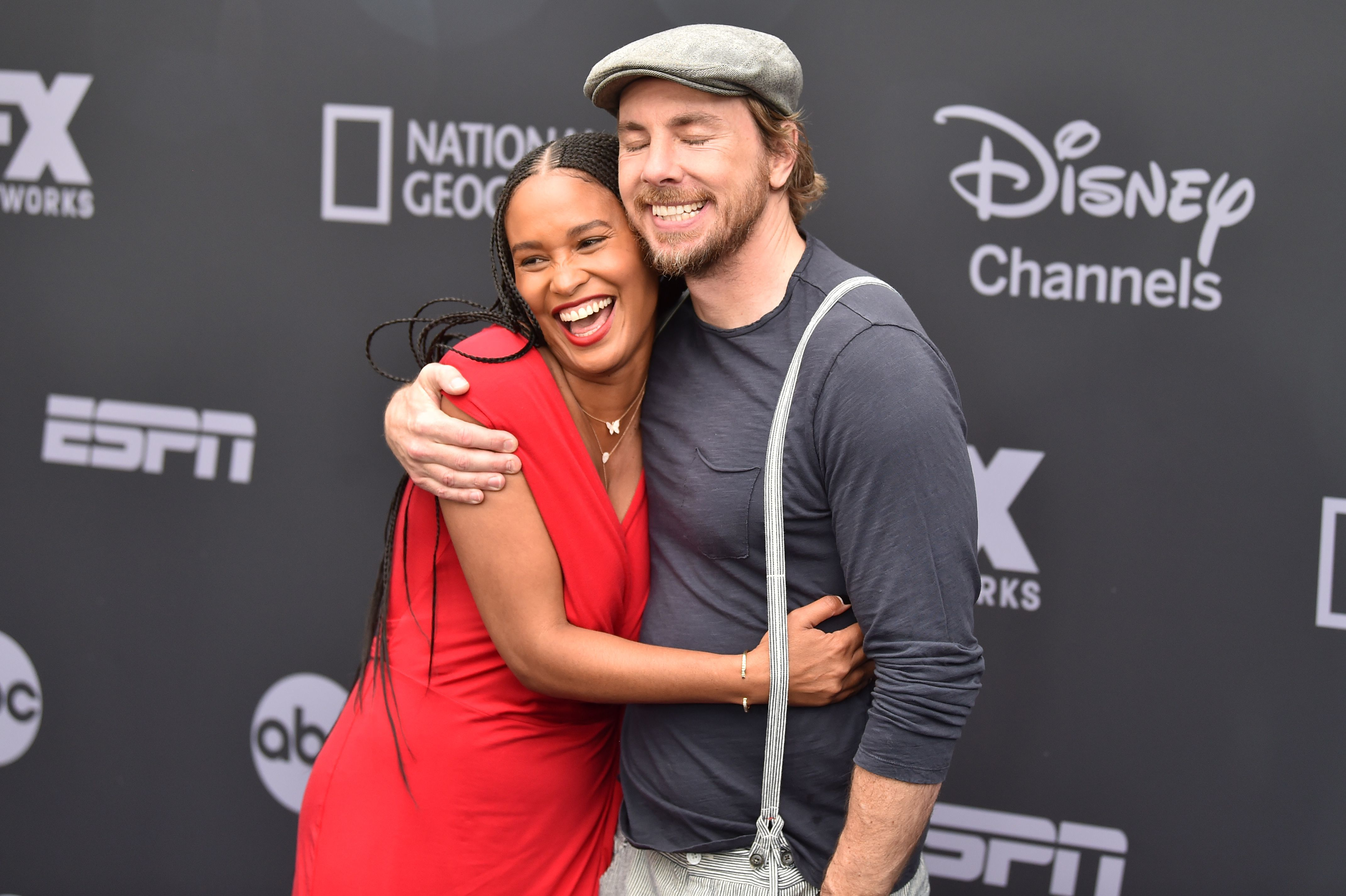 Joy Bryant and Dax Shepard attend the Walt Disney Television Upfront Presentation in New York City on May 14, 2019.