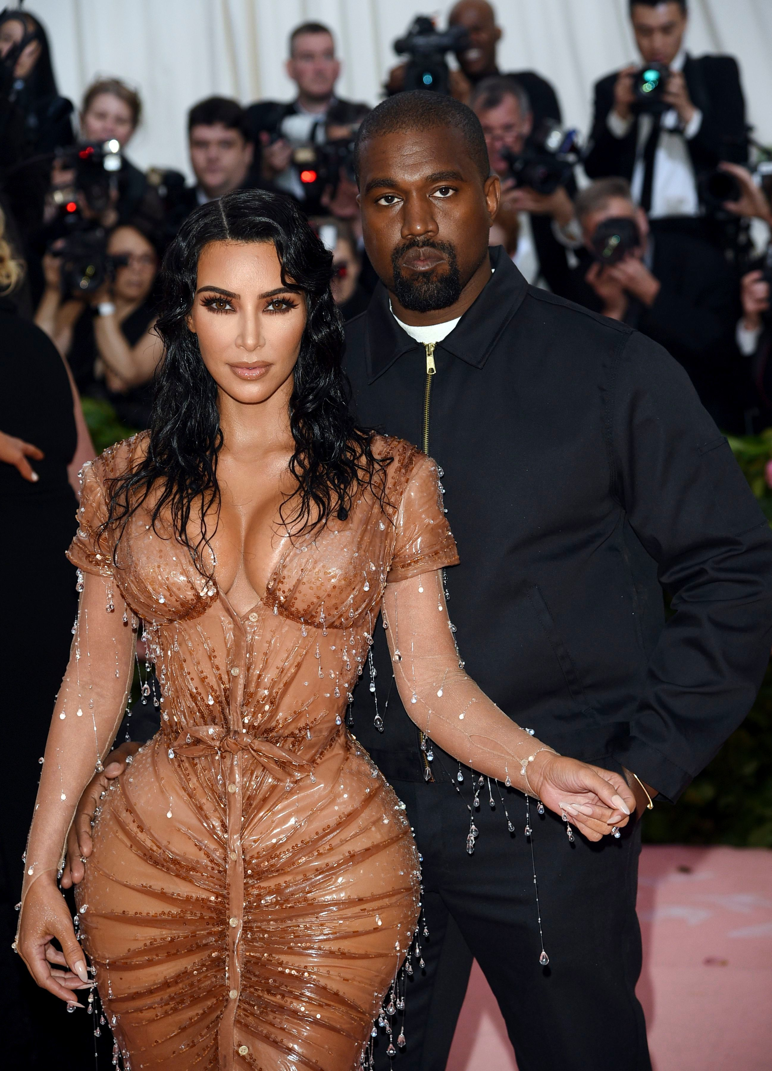 Kim Kardashian and Kanye West attend The Metropolitan Museum of Art's Costume Institute benefit gala in New York City on May 6, 2019.
