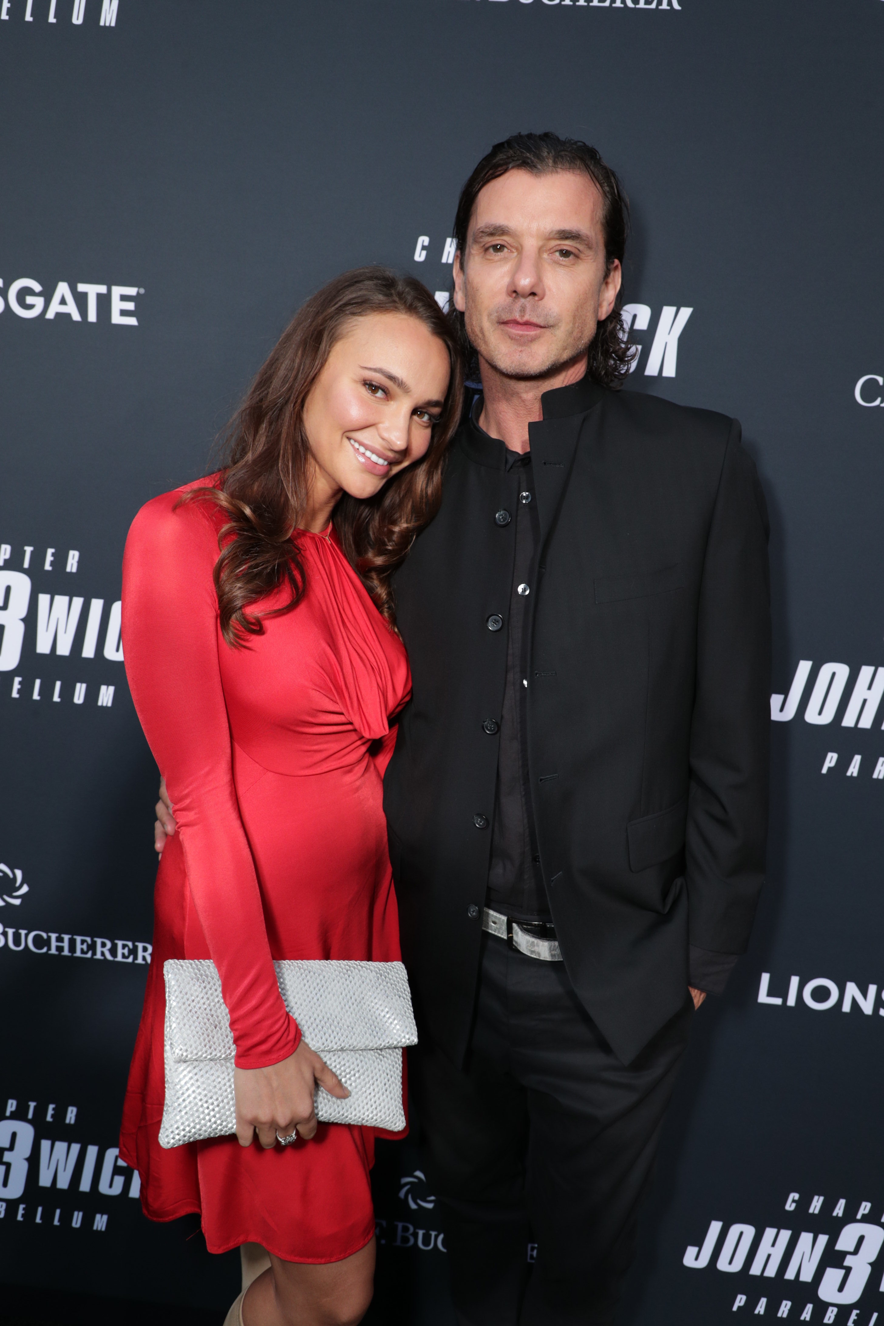 "Natalie Golba and Gavin Rossdale arrive for a special screening of ""John Wick: Chapter 3"" in Los Angeles on May 15, 2019."