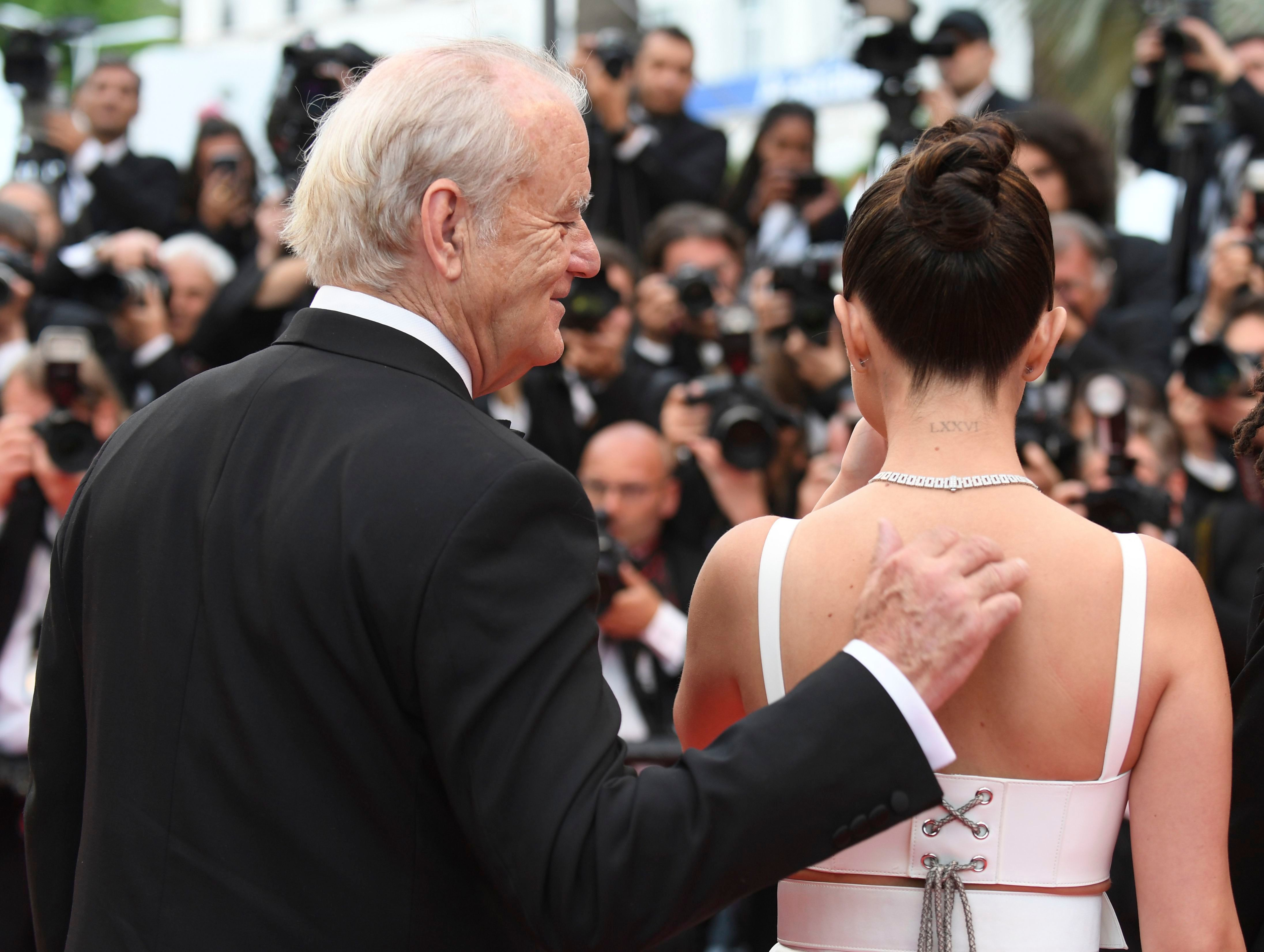 """Bill Murray and Selena Gomez attend the Cannes Film festival premiere of their film """"The Dead Don't Die"""" in France on May 14, 2019."""