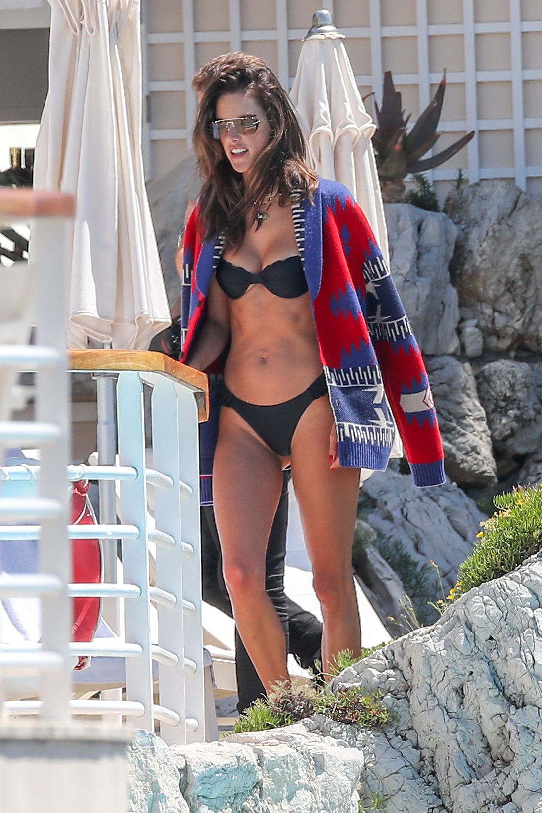 Alessandra Ambrosio wears a bikini while hanging out by the pool at the Hôtel du Cap Eden Roc in France on May 16, 2019.