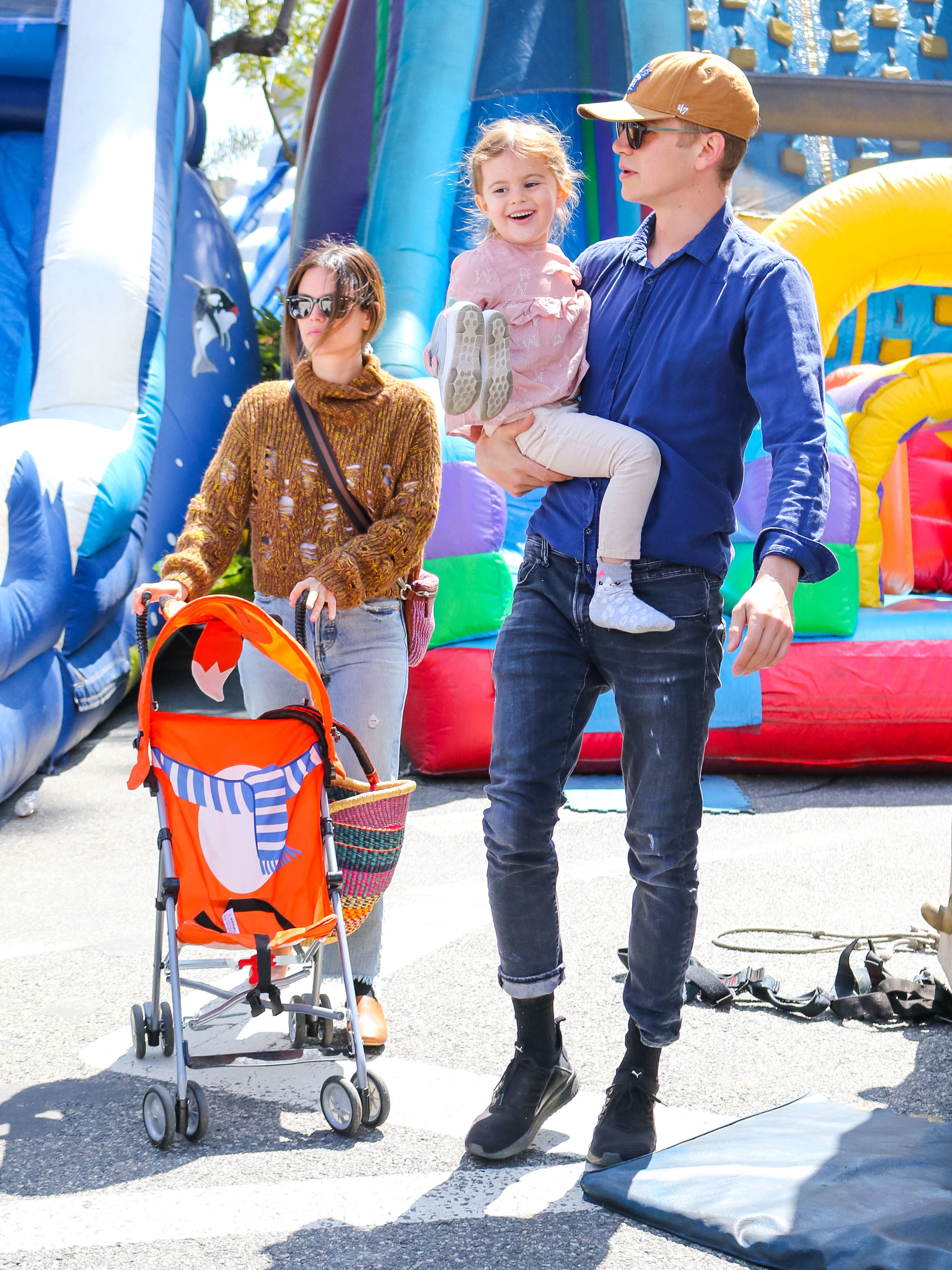 Rachel Bilson, Hayden Christensen and daughter Briar Rose Christensen spent the day at the farmer's market in Studio City, CA on May 5, 2019.