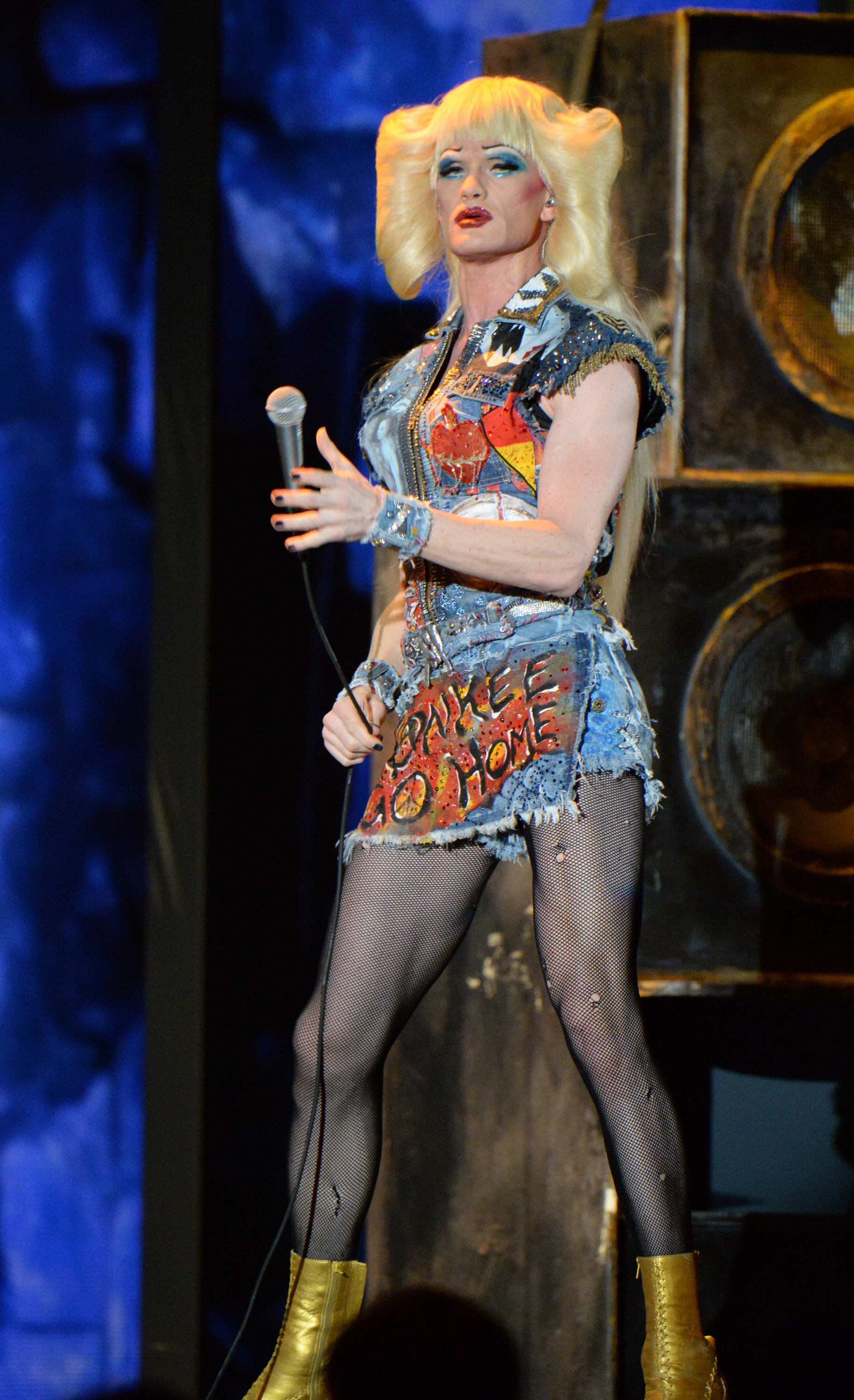 "Neil Patrick Harris and the cast of ""Hedwig and the Angry Inch"" perform onstage during the 68th Annual Tony Awards at Radio City Music Hall in New York City  on June 8, 2014."