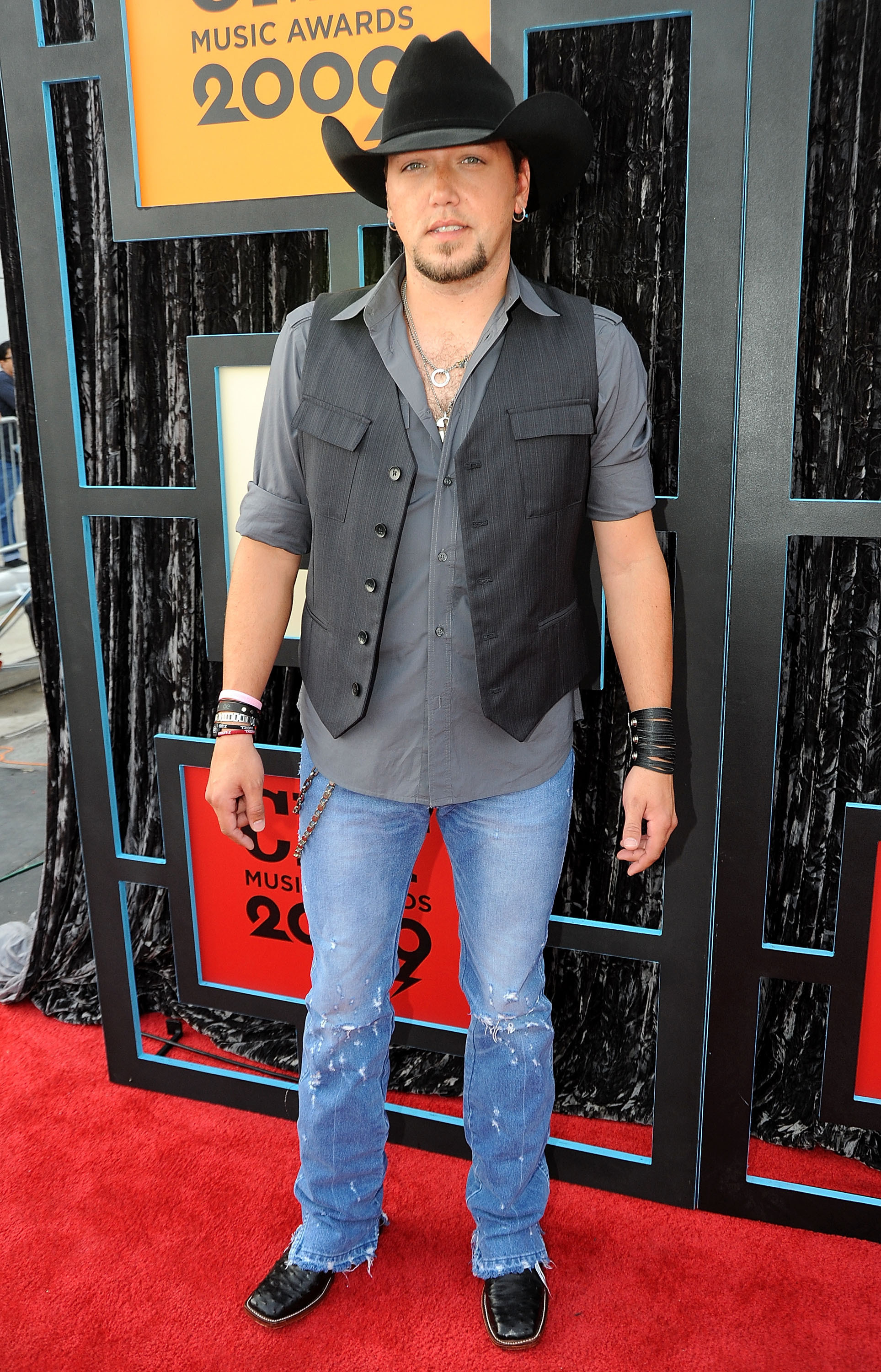 Jason Aldean attends the CMT Music Awards at the Sommet Center in Nashville, Tennessee, on June 16, 2009.