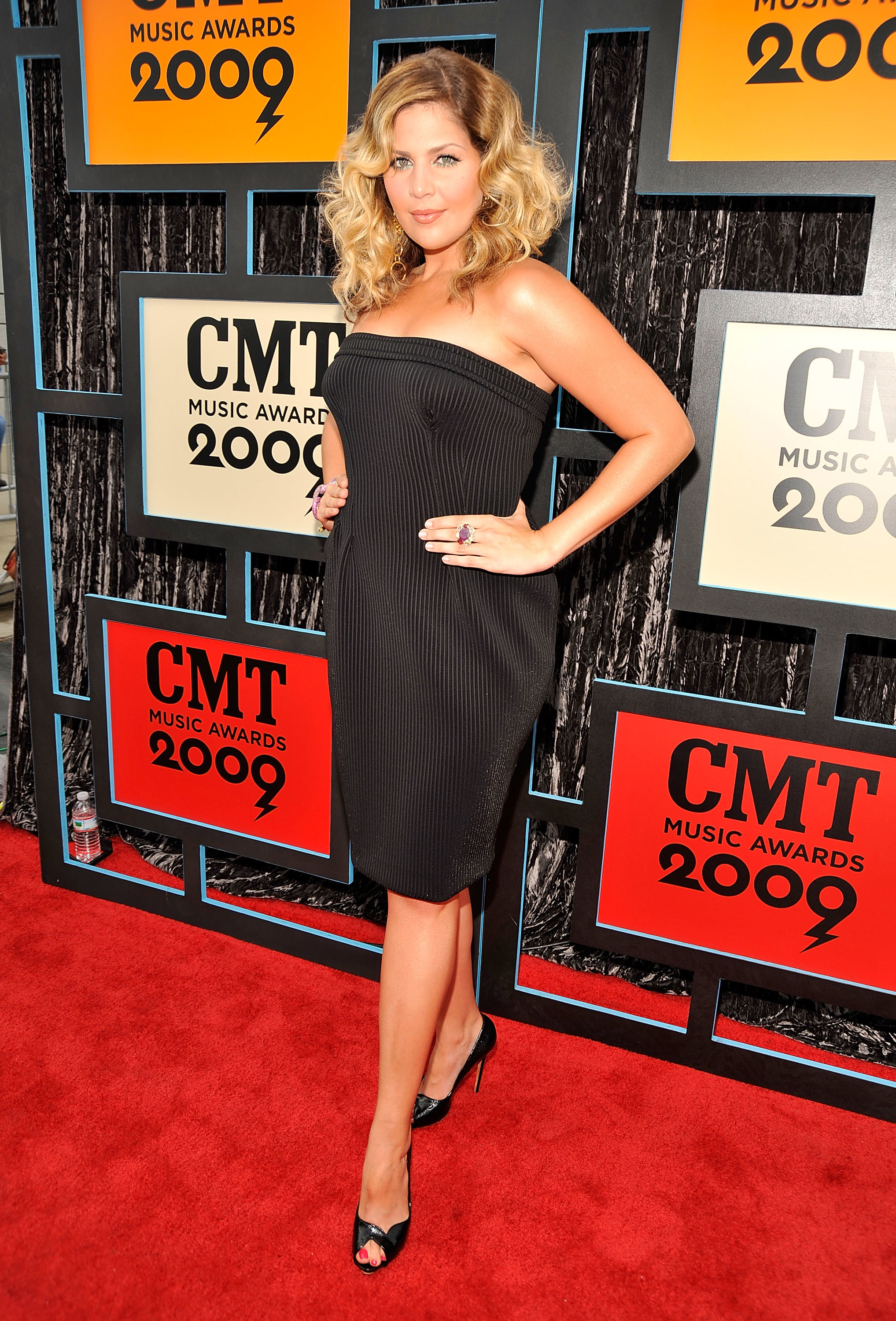 Hillary Scott attends the CMT Music Awards at the Sommet Center in Nashville, Tennessee, on June 16, 2009.