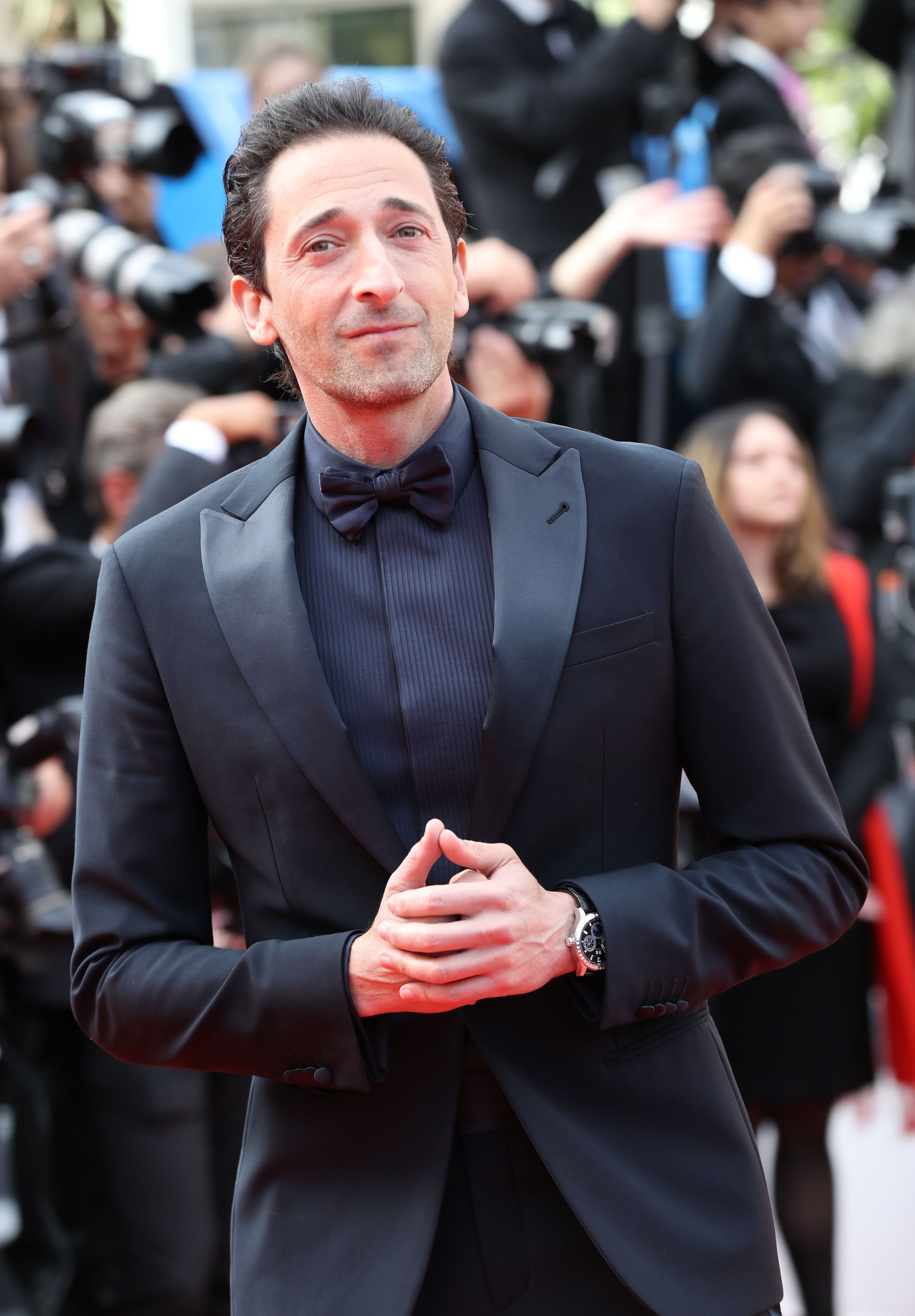 """Adrien Brody attends the """"Once Upon a Time In... Hollywood"""" premiere during the 72nd Annual Cannes Film Festival on May 21, 2019."""