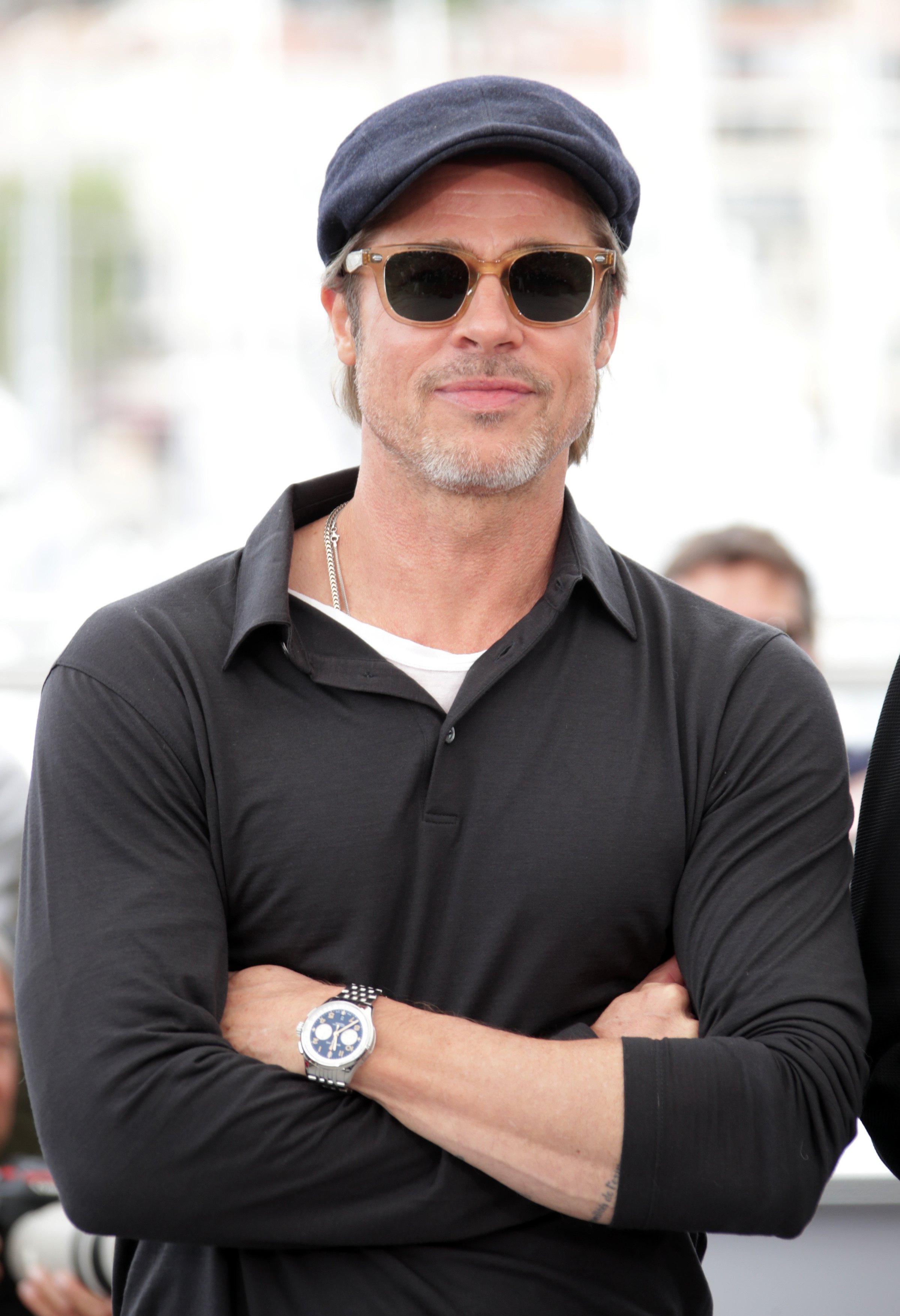 "Brad Pitt attends the ""Once Upon A Time in Hollywood"" photocall during the 72nd Cannes Film Festival on May 22, 2019."