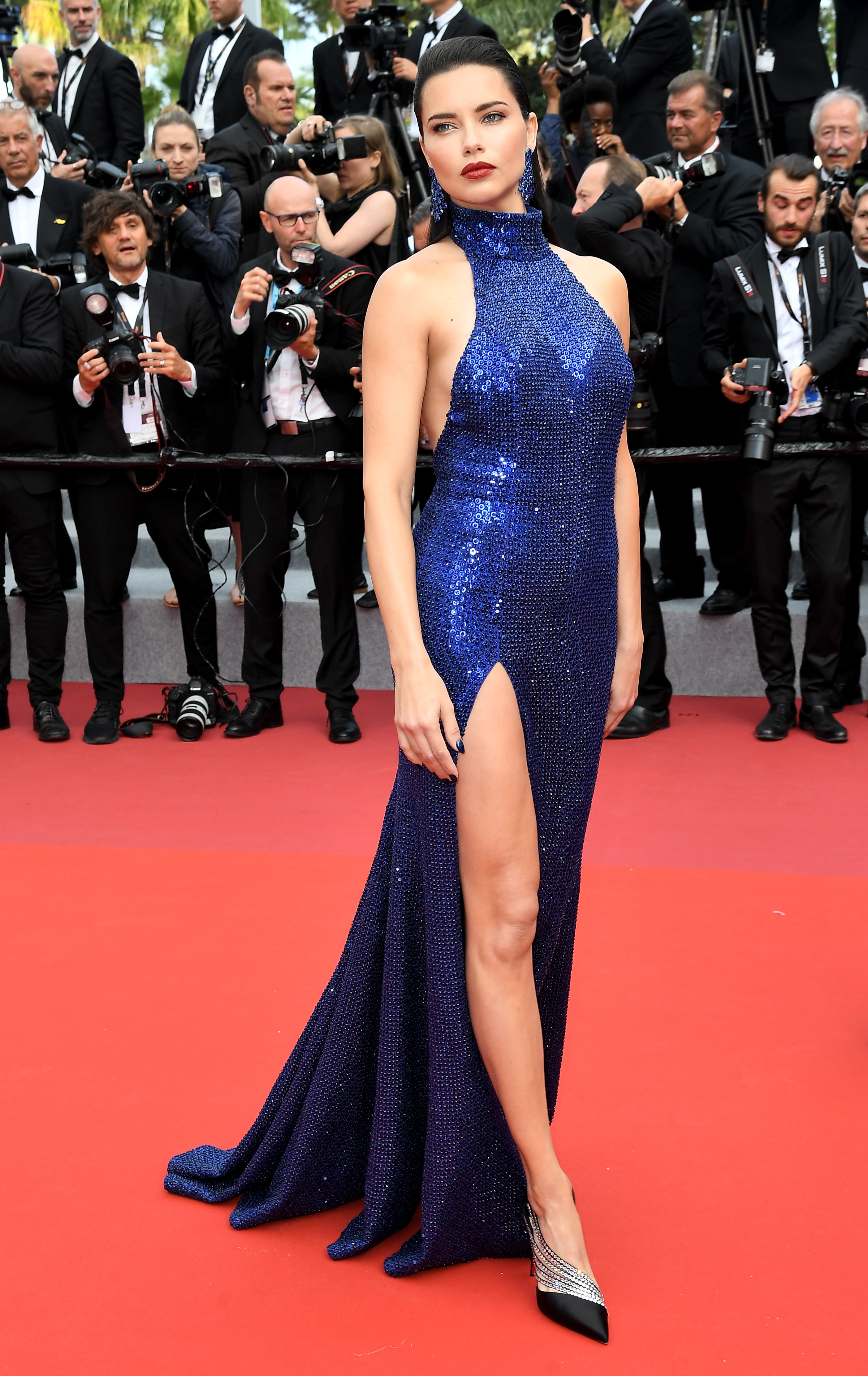 """Adriana Lima attends the """"Oh Mercy!"""" premiere during the 72nd Cannes Film Festival on May 22, 2019."""