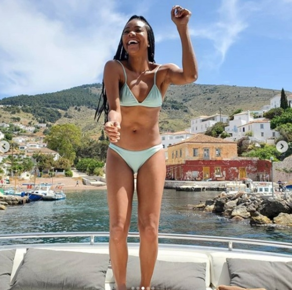Gabrielle Union shows off her amazing bikini bod in Greece ...