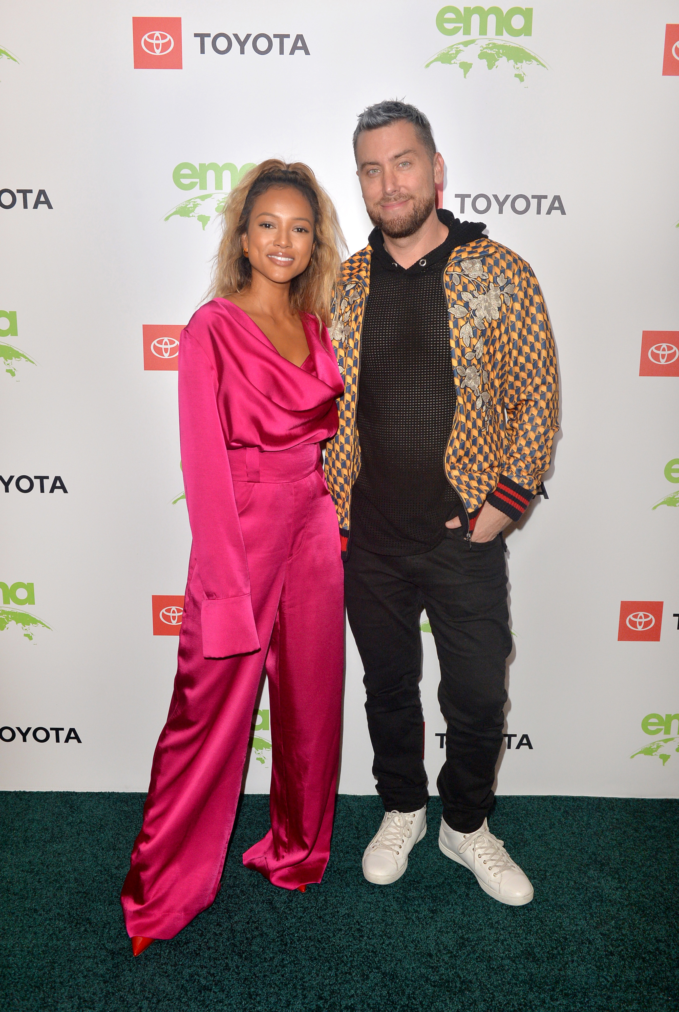 Karrueche Tran and Lance Bass attend the first day of the EMA IMPACT Summit at the Montage Beverly Hills hotel on May 29, 2019.