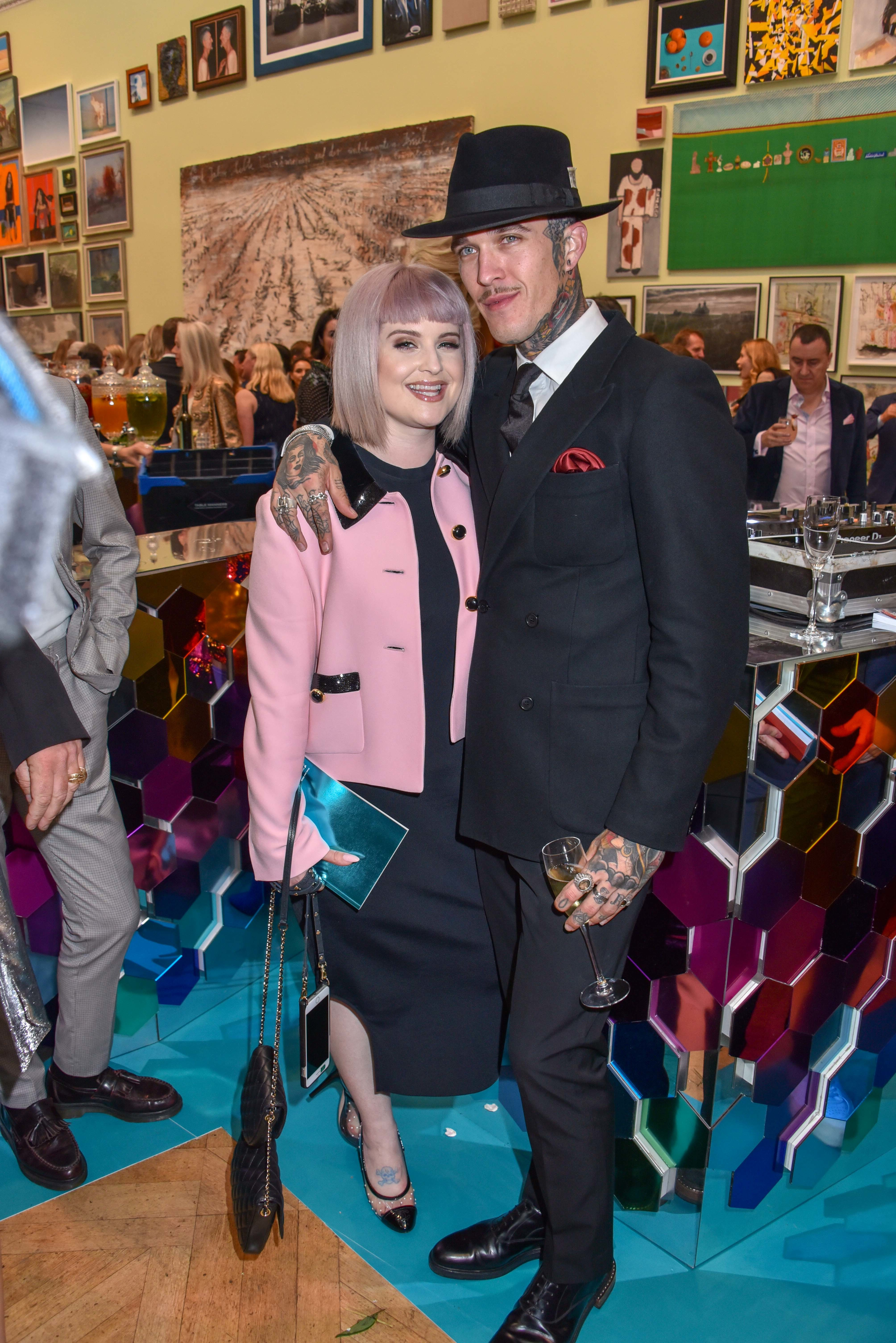 Kelly Osbourne and Jimmy Q attend the Royal Academy of Arts Summer Exhibition preview party in London on June 4, 2019.
