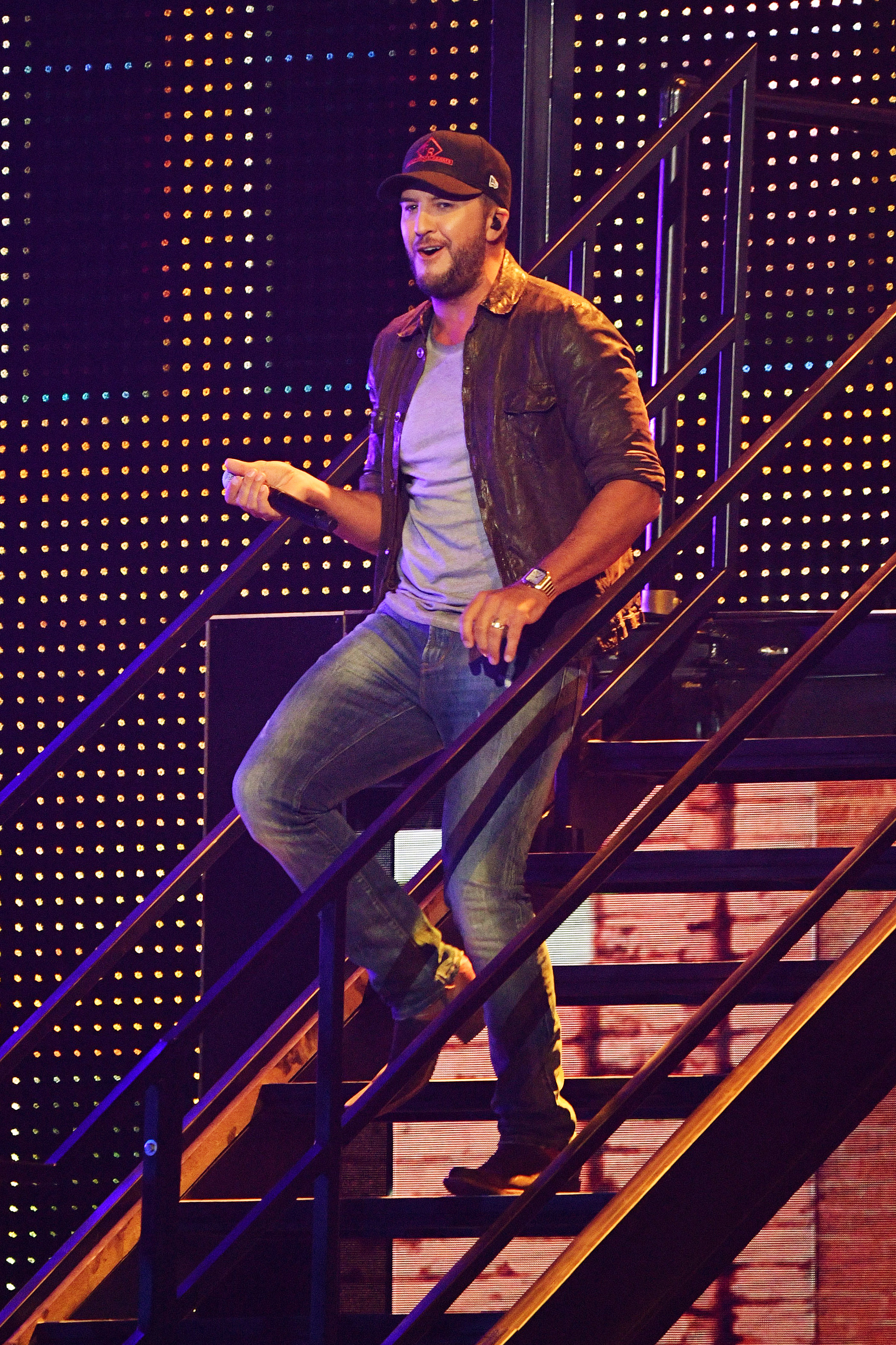 Luke Bryan performs at the 2019 CMT Music Awards at Bridgestone Arena in Nashville, Tennessee, on June 5, 2019.