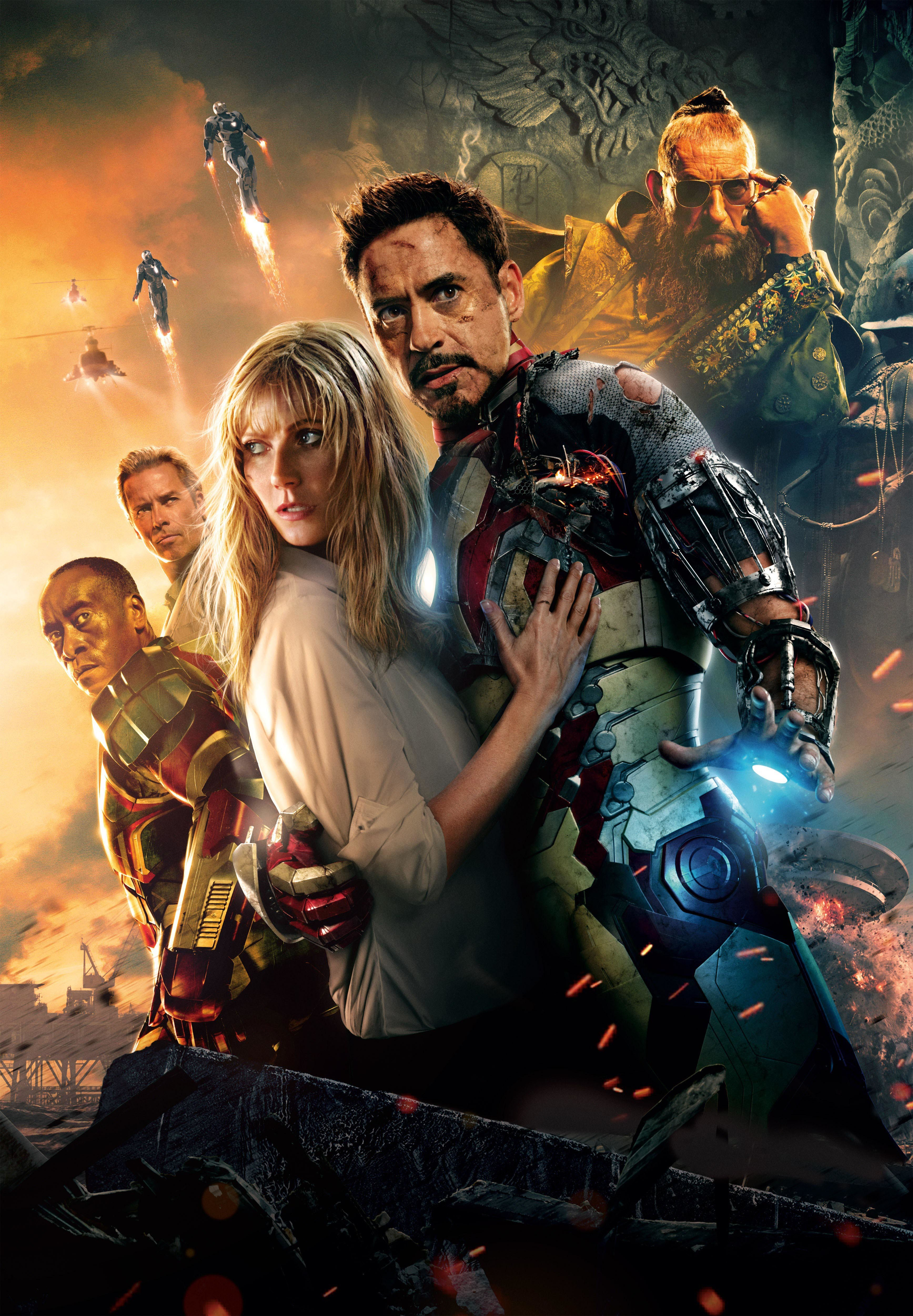 "Gwyneth Paltrow and Robert Downey Jr. star in ""Iron Man 3"" in 2013."