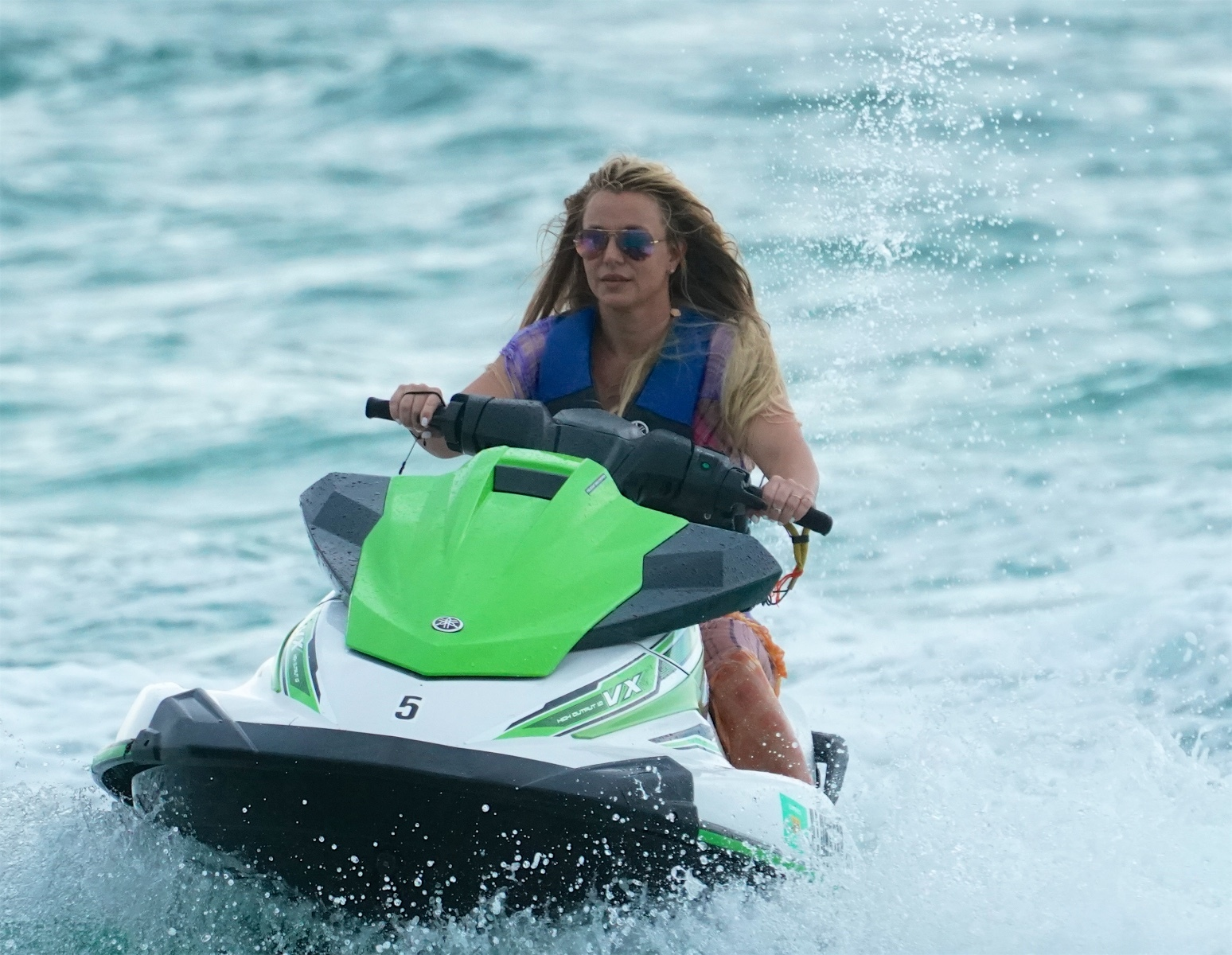 Britney Spears goes jet skiing in Miami beach on June 9, 2019.