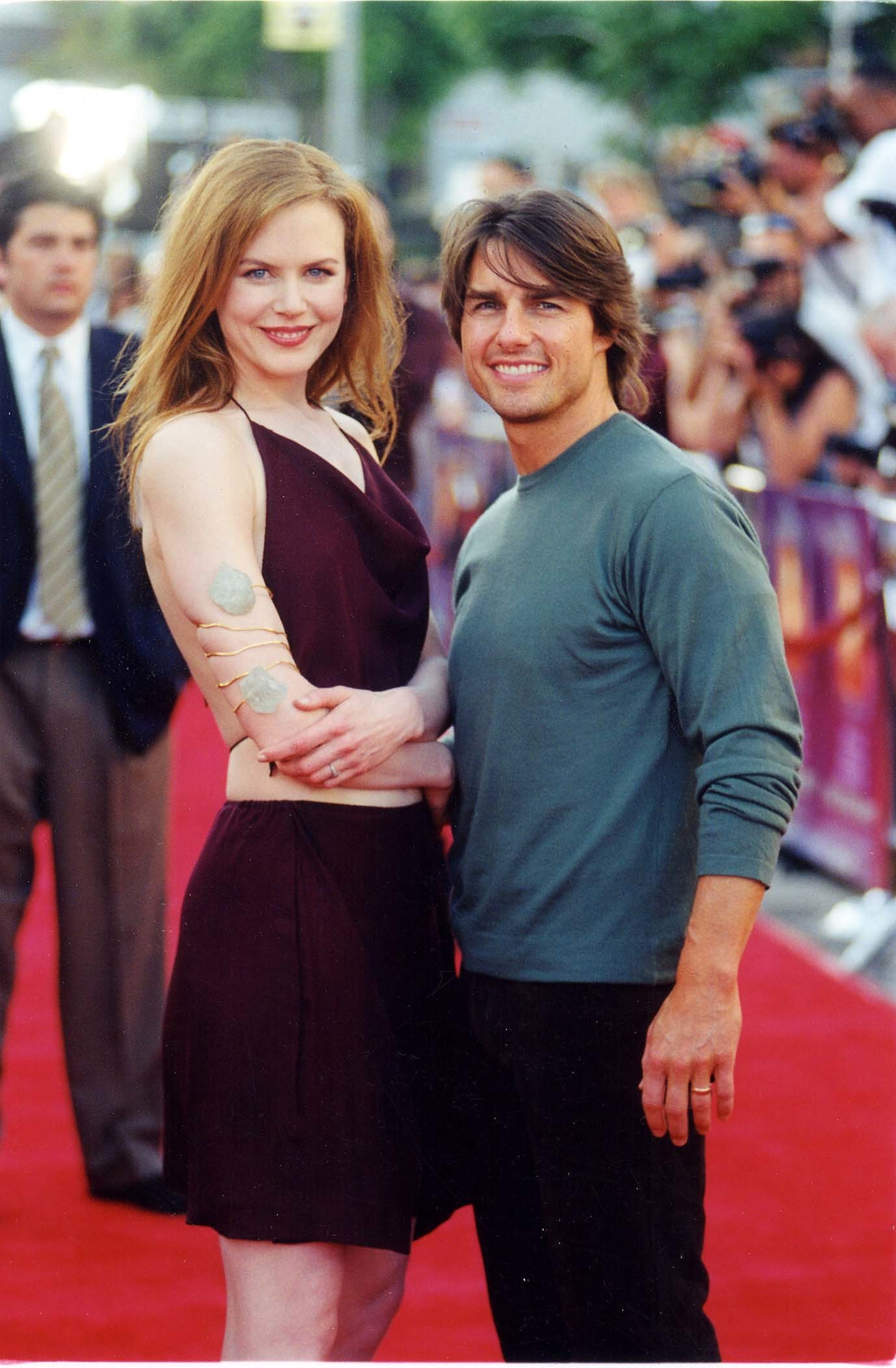 """Nicole Kidman and Tom Cruise appear at the """"Eyes Wide Shut"""" premiere in Los Angeles on Sept. 9, 1999."""
