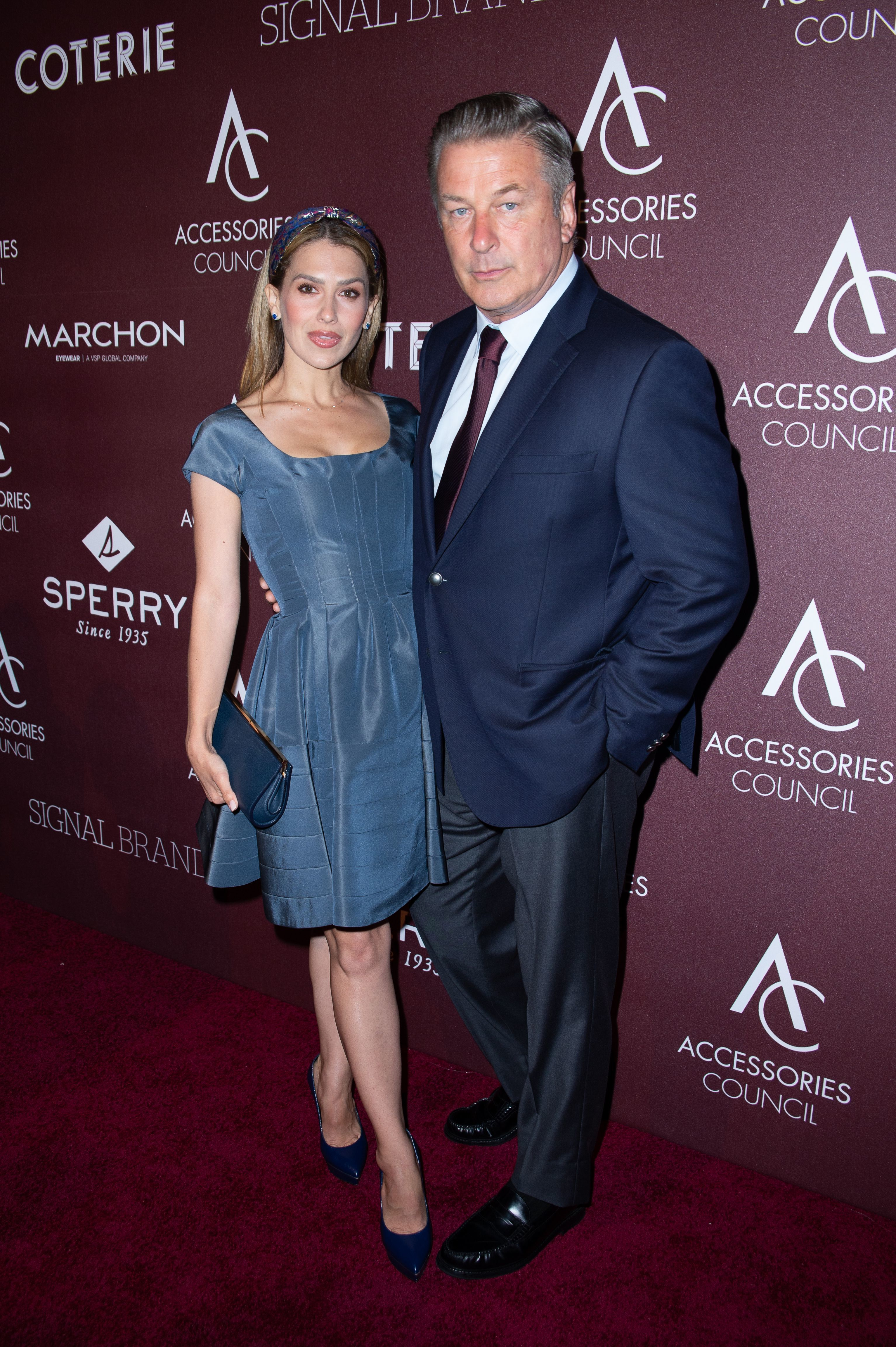 Hilaria Baldwin and Alec Baldwin attend the 23rd Annual Ace Awards in New York City on June 10, 2019.