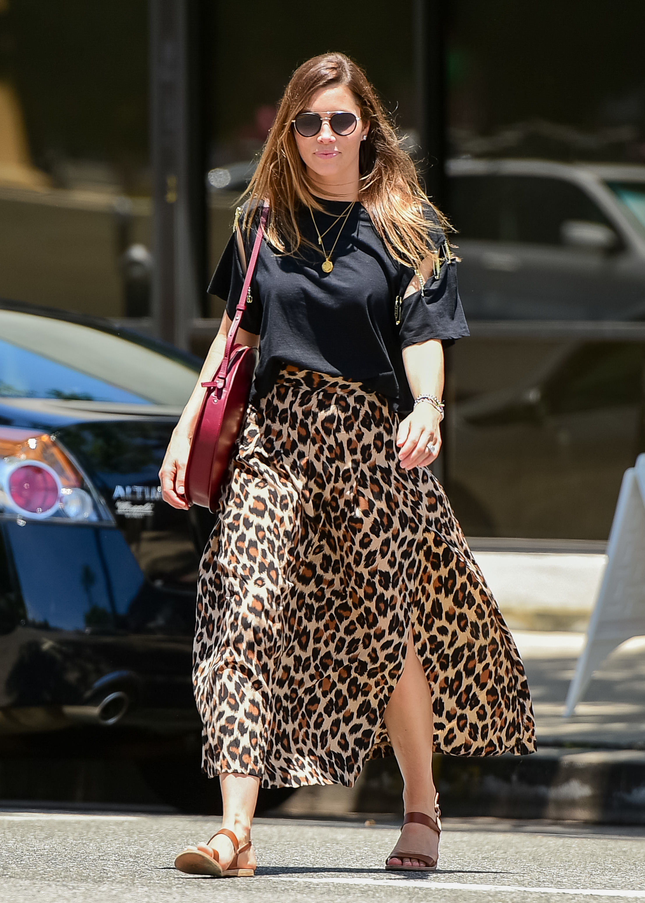 Jessica Biel is spotted out and about in Los Angeles on June 10, 2019.