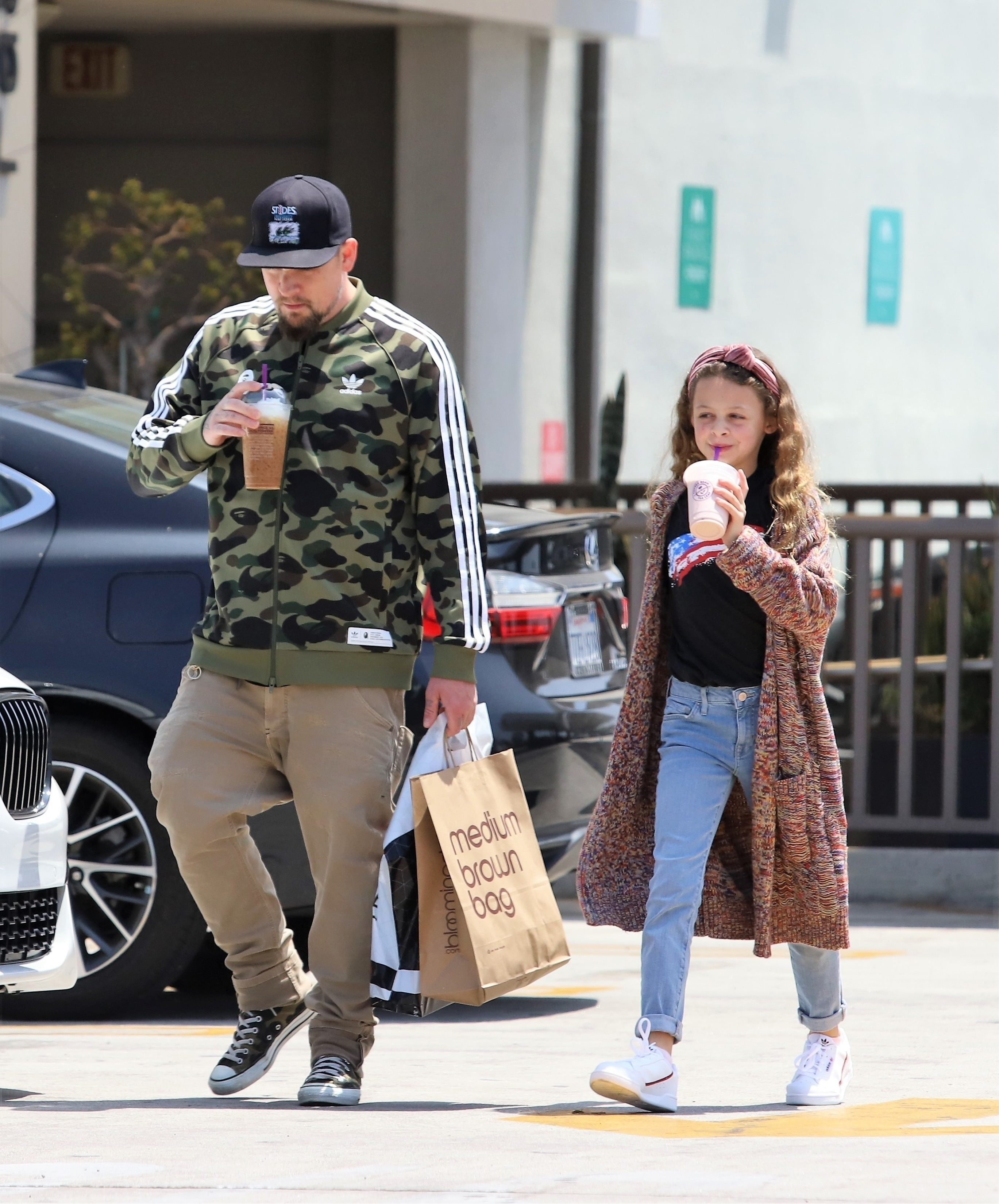 Joel Madden took his oldest child, daughter Harlow, for a coffee break while out in Studio City, CA on June 6, 2019.