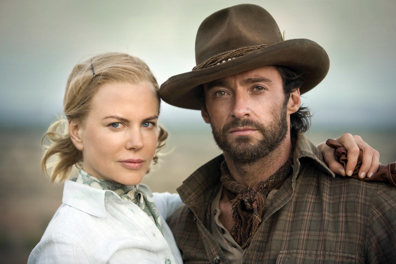 "Hugh Jackman and Nicole Kidman appear in the 2008 period film ""Australia."""