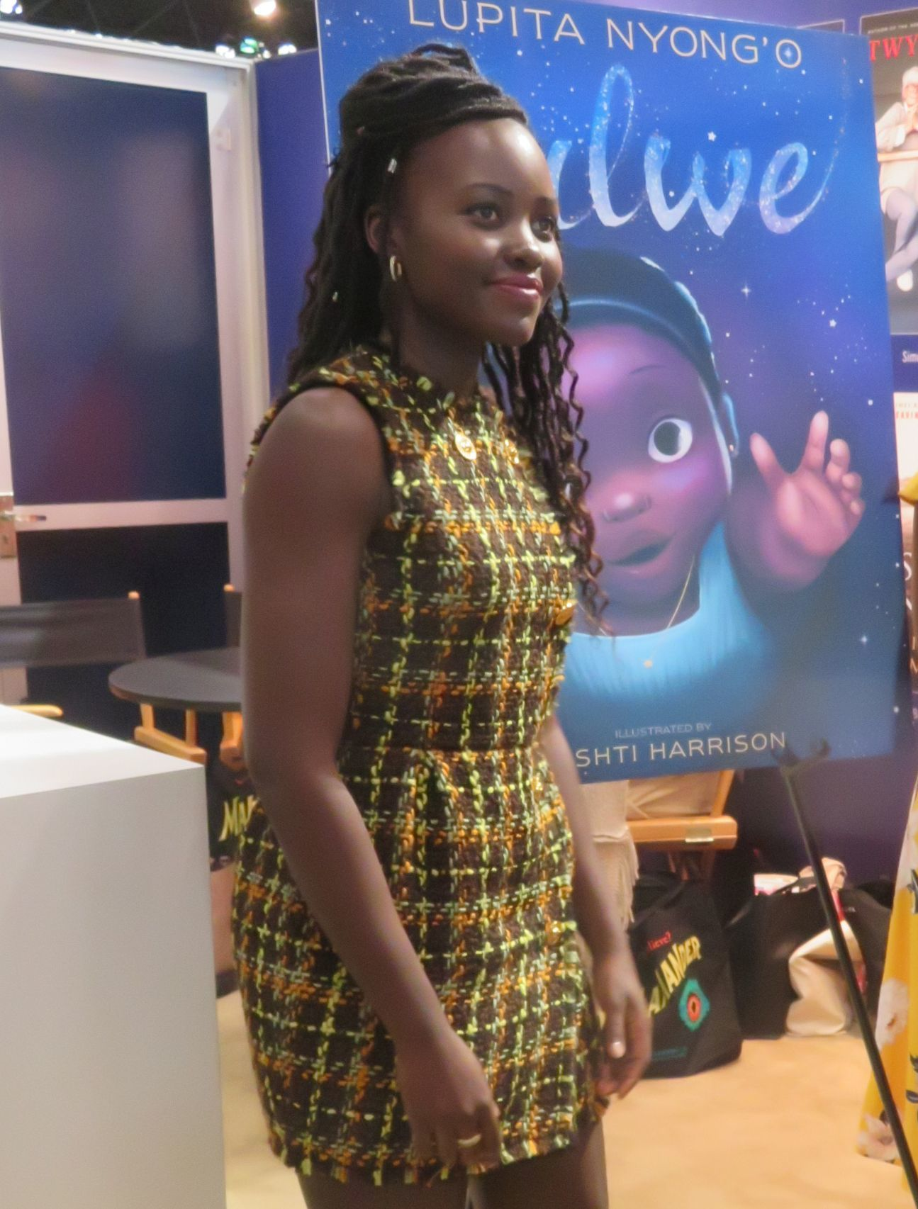 "Lupita Nyong'o attends BookCon in New York City to promote her children's book, ""Sulwe,"" on June 2, 2019."