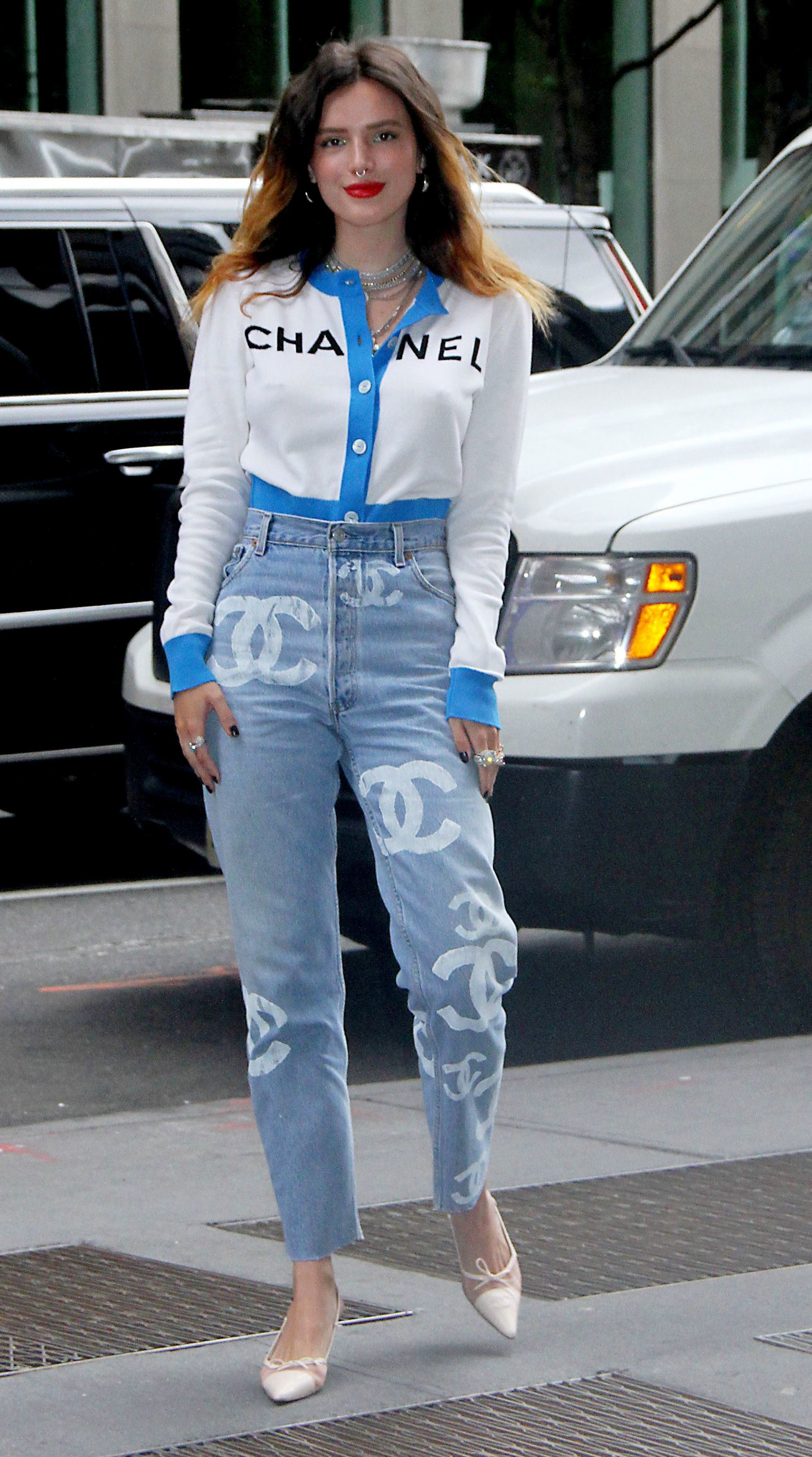Bella Thorne is spotted out and about in New York City on June 14, 2019.