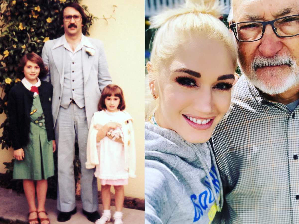 """""""Happy Father's Day to one of my favorite humans I know   #greatnesses always there for me and my boys I love I w all my heart ❤️ #grateful #blessed #loveudad gx #littlesister""""   Gwen Stefani, who posted a slideshow of photos of herself with her dad, Dennis Stefani, through the years on Instagram on Father's Day 2019, June 16"""