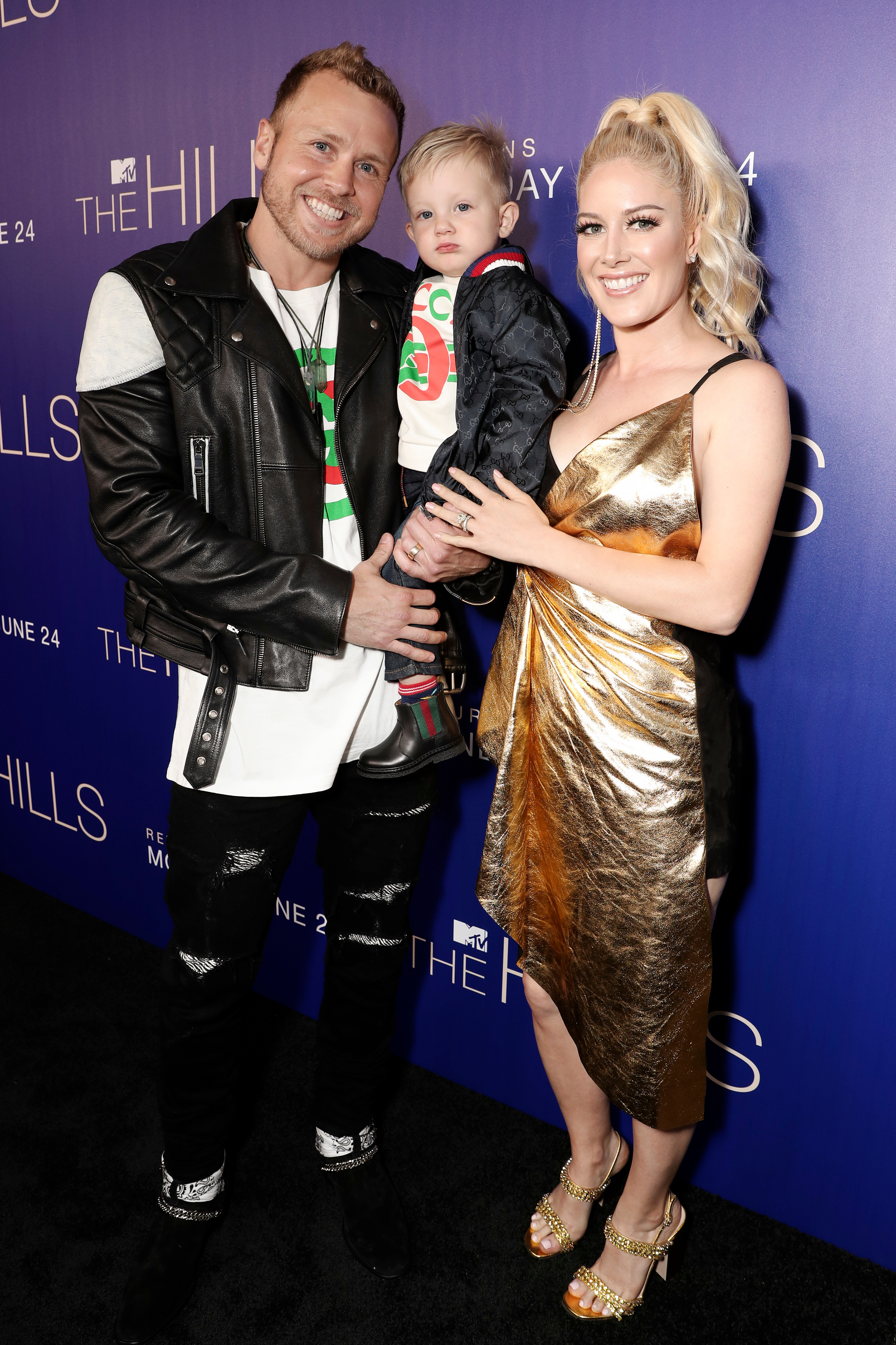 """Spencer Pratt, son Gunner and wife Heidi Montag arrive at MTV's """"The Hills: New Beginnings"""" TV show premiere and party at Liaison Restaurant and Lounge in Los Angeles on June 19, 2019."""