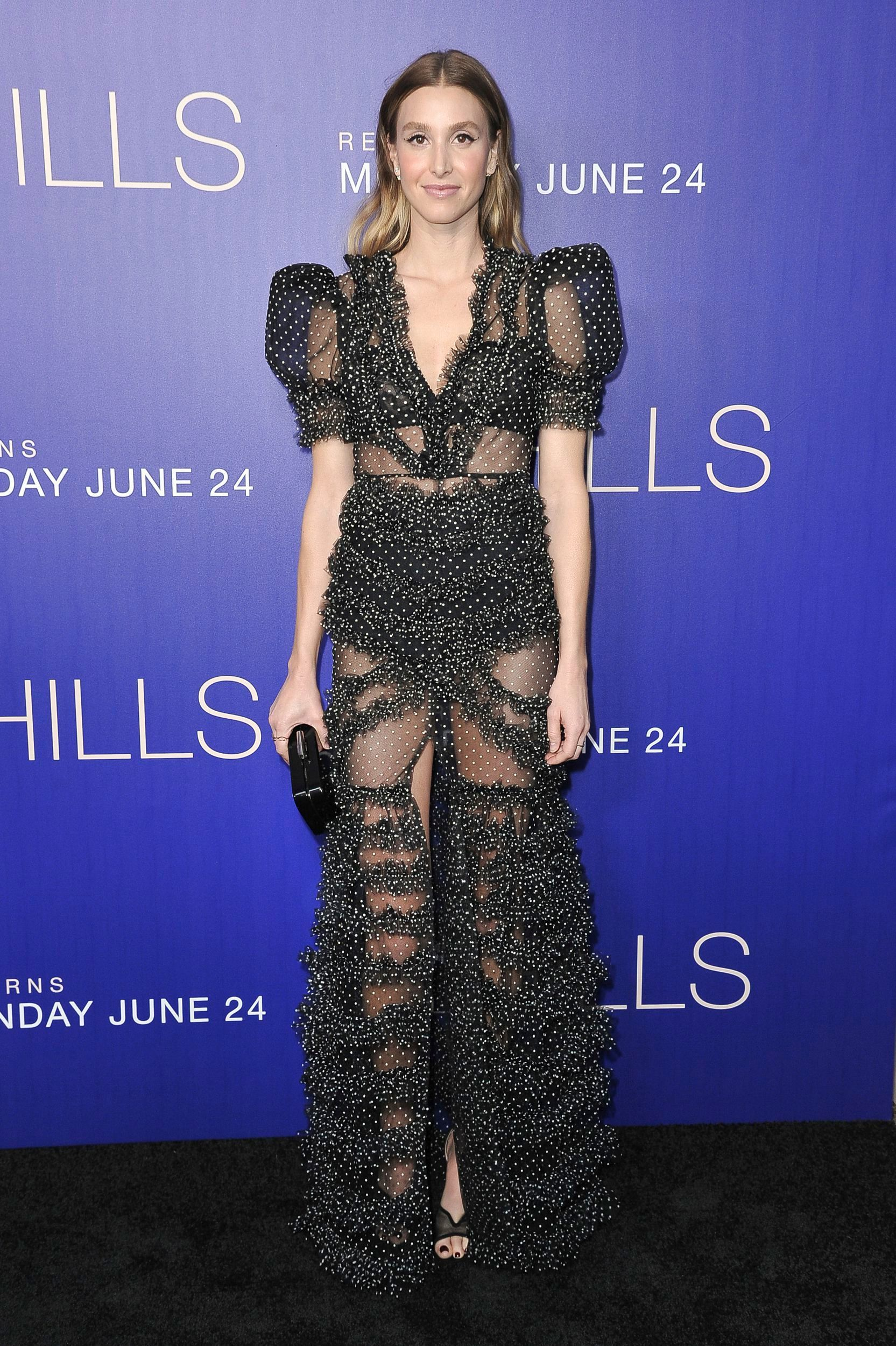 """Whitney Port arrives at MTV's """"The Hills: New Beginnings"""" TV show premiere and party at Liaison Restaurant and Lounge in Los Angeles on June 19, 2019."""