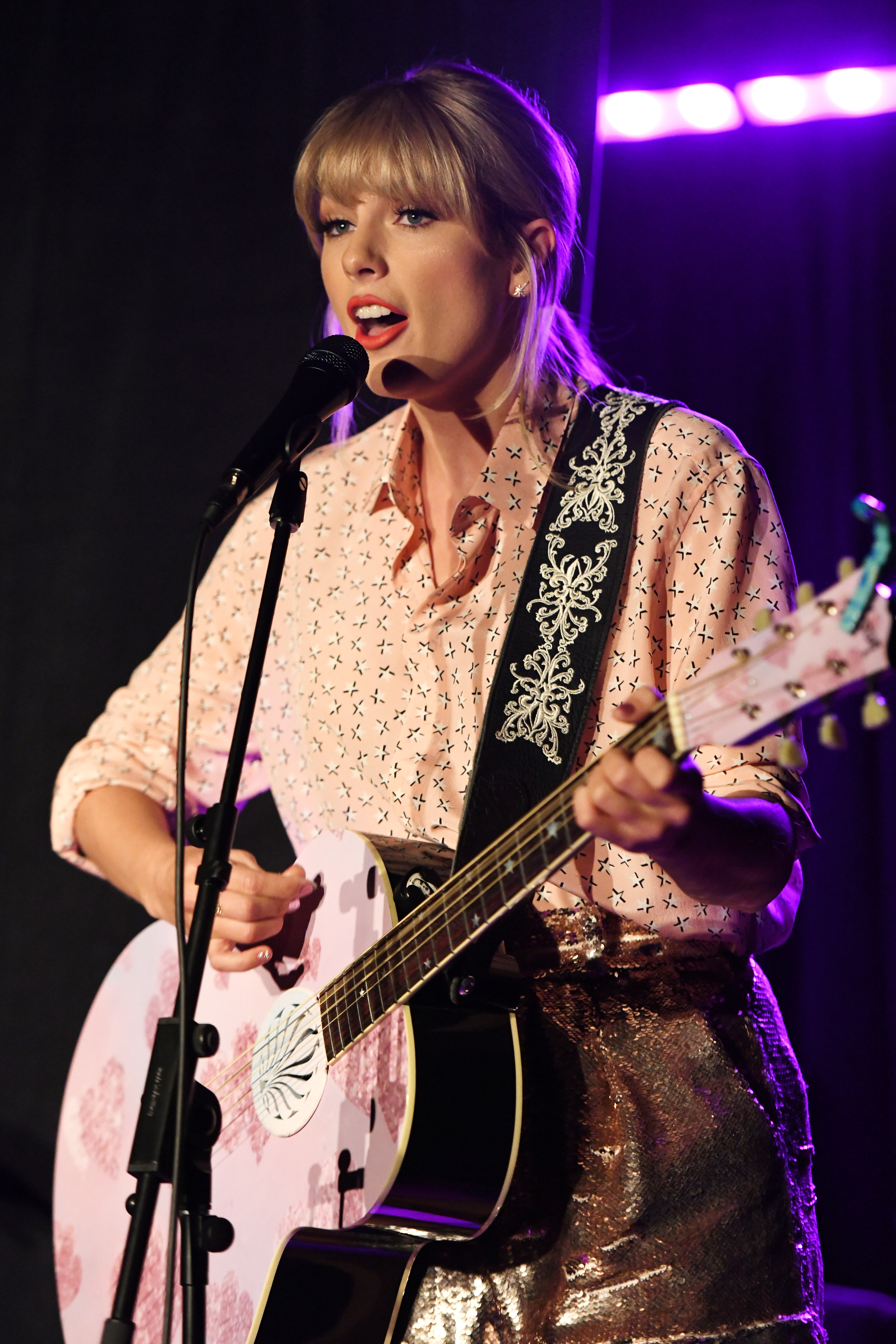 Taylor Swift performs at AEG and Stonewall Inn's pride celebration commemorating the 50th anniversary of the Stonewall Uprising at Stonewall Inn in New York City on  June 14, 2019.