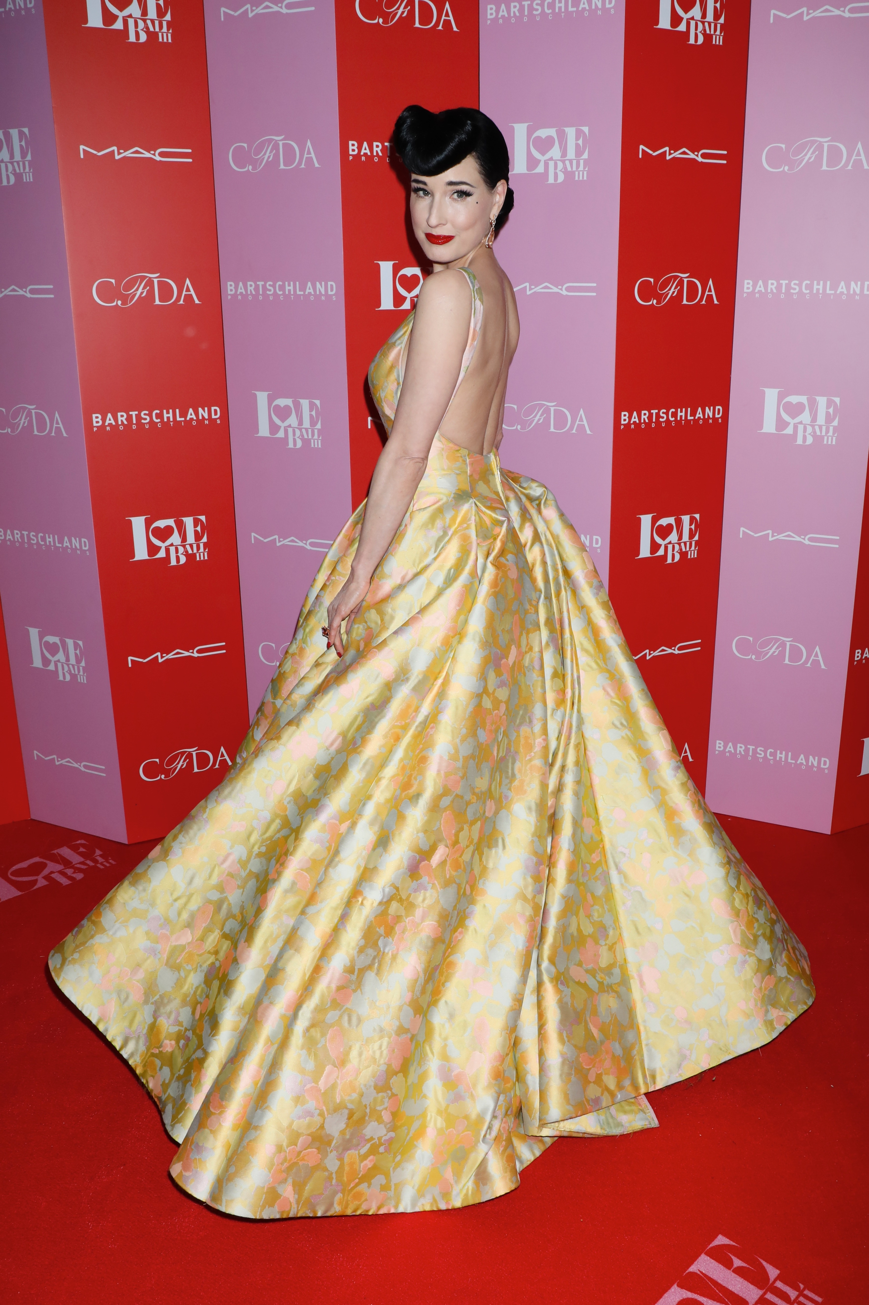Dita Von Teese attends the Love Ball III HIV/AIDS benefit, hosted by The Council of Fashion Designers of America (CFDA) and Susanne Bartsch, in New York City on June 25, 2019.