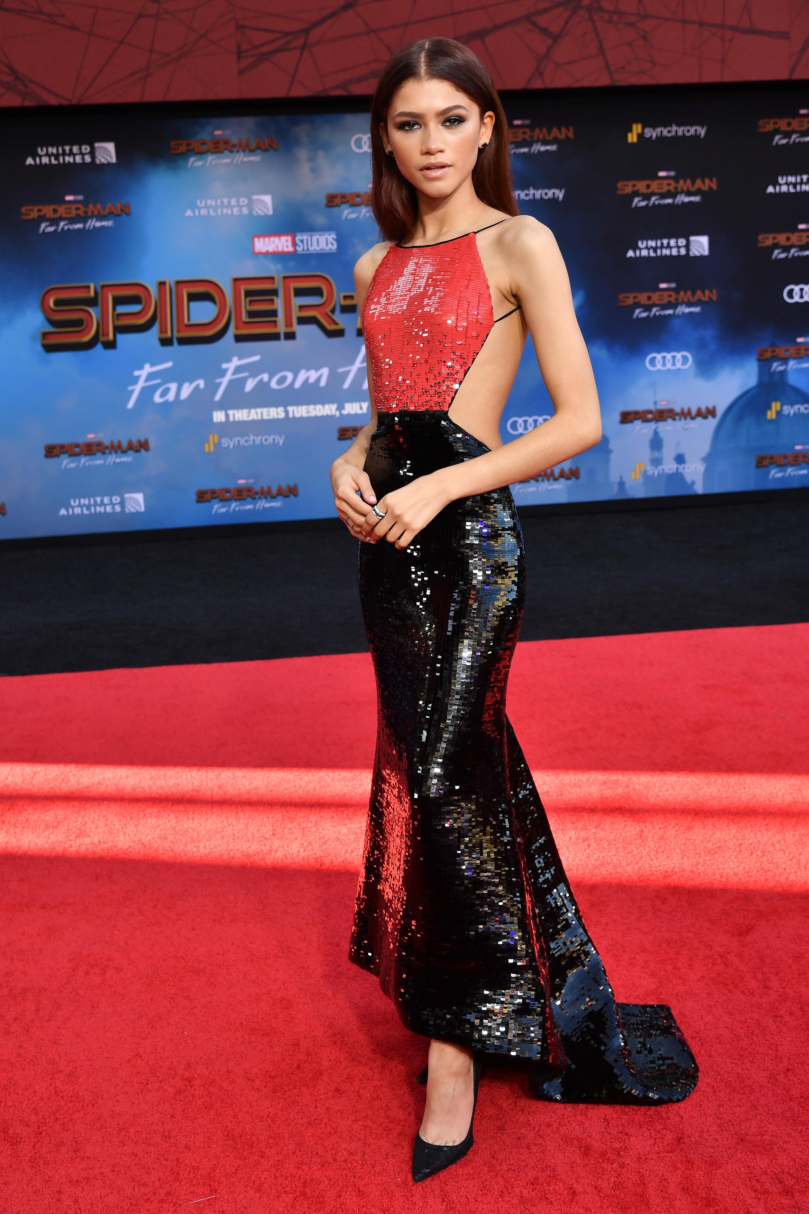 Zendaya Spider Man Far From Home Press Tour Fashion