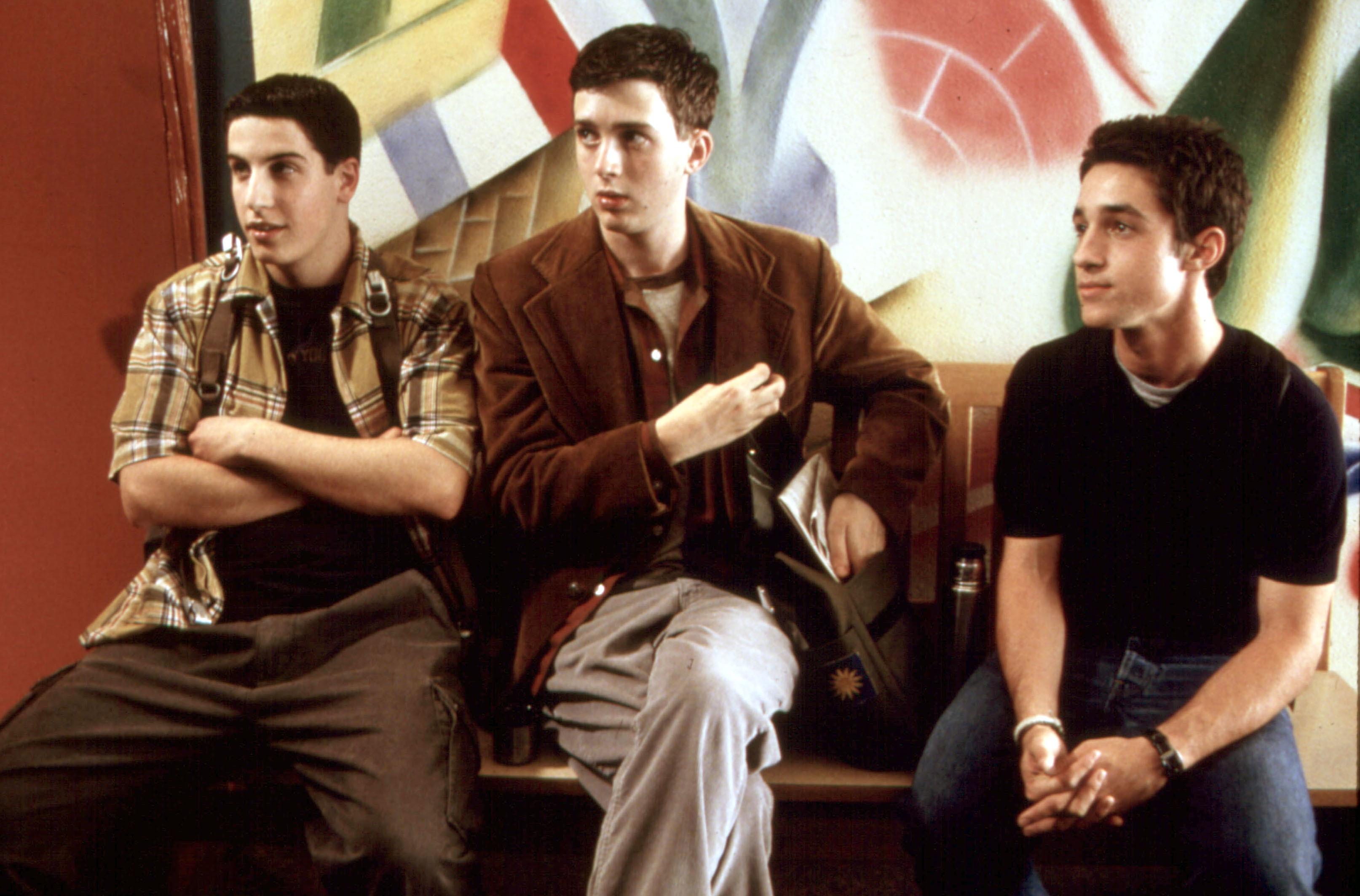 """Jason Biggs,  Eddie Kaye Thomas and Thomas Ian Nicholas star in 1999's """"American Pie."""""""