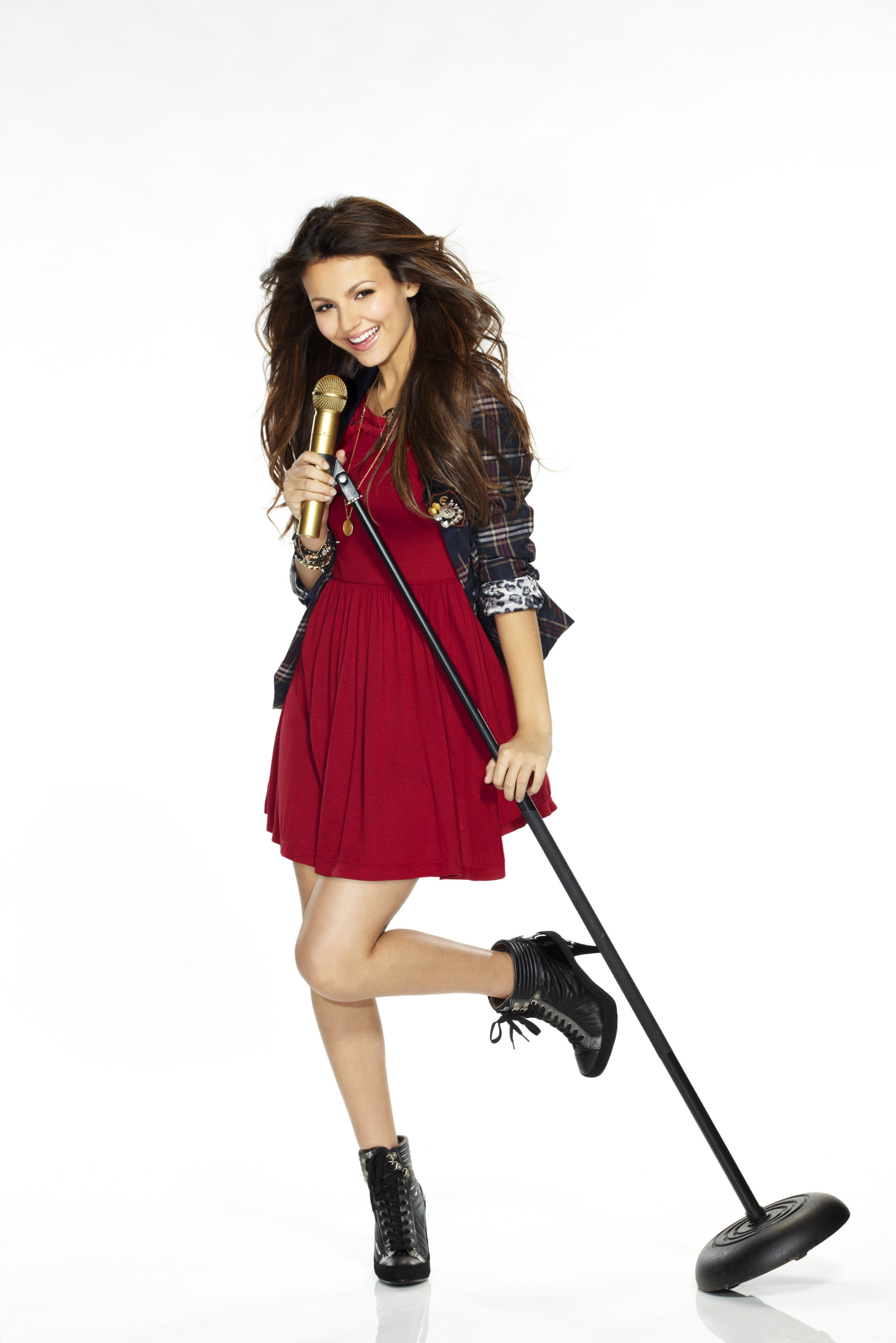 "Victoria Justice appears in a promotional photo for Season 1 of Nickelodeon's ""Victorious"" in 2010."