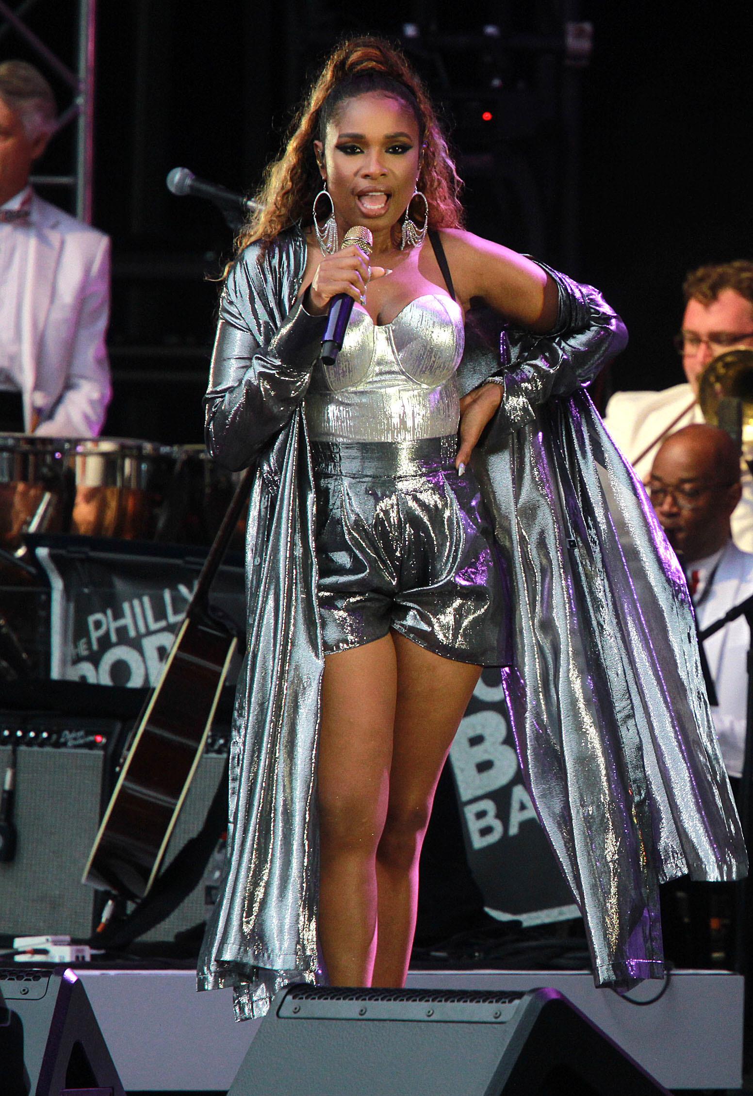 Jennifer Hudson performs during Independence Day celebrations in Philadelphia on July 4, 2019.