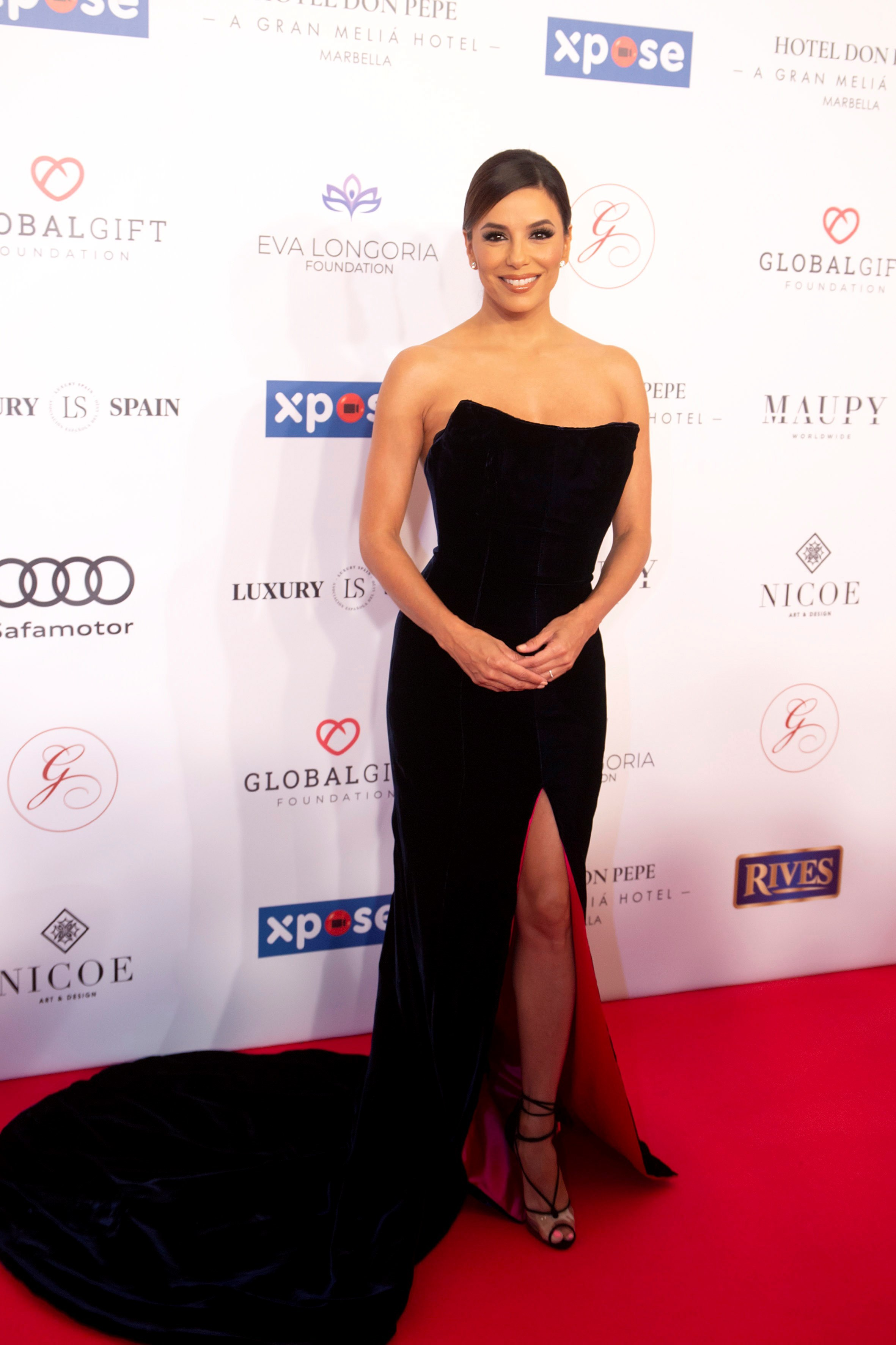 Eva Longoria attends the VIII Global Gift gala in Marbella, Spain, on July 12, 2019.