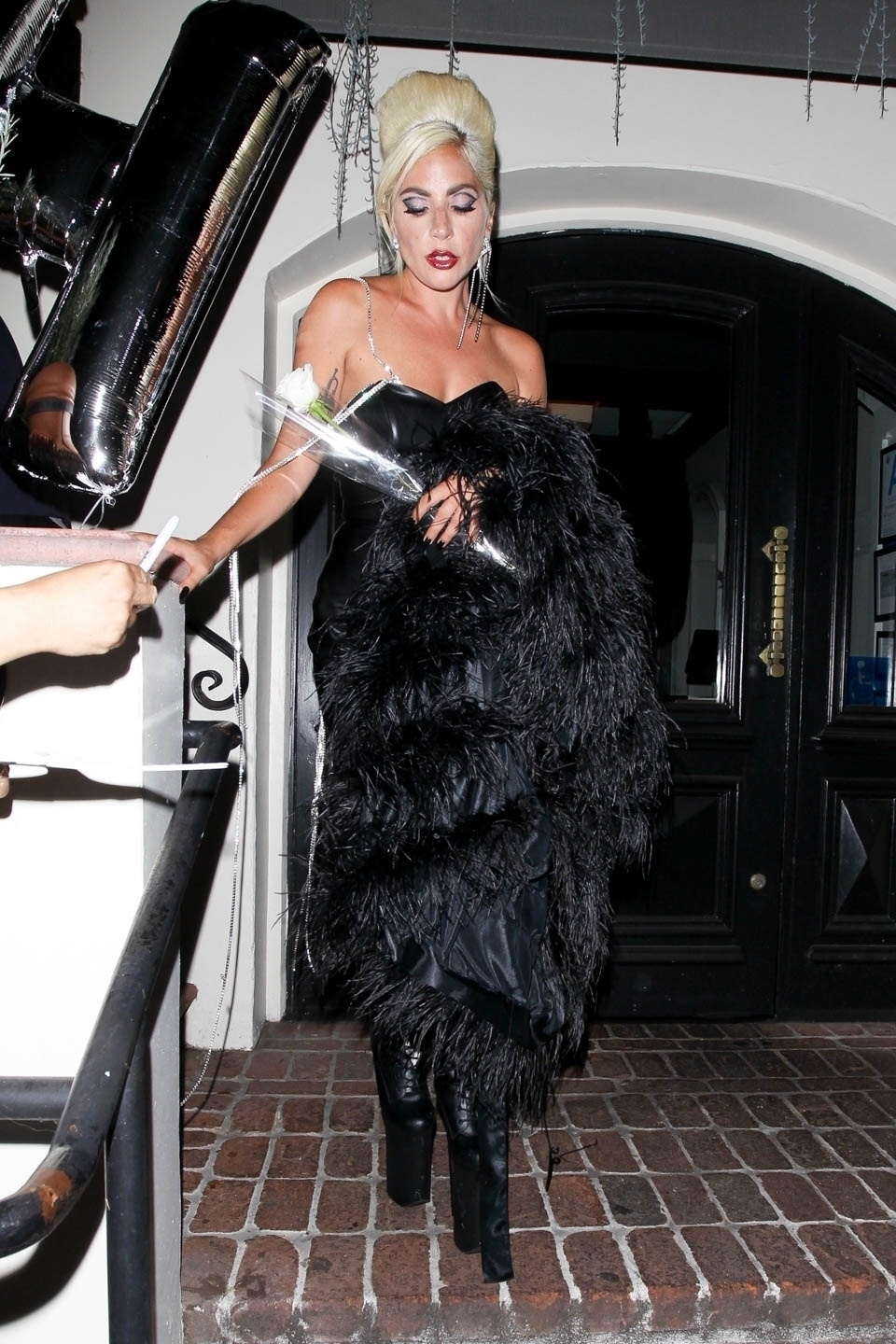 Lady Gaga looked extra fierce while leaving a party celebrating the launch of her new beauty brand, Haus Laboratories, in West Hollywood on July 17, 2019.