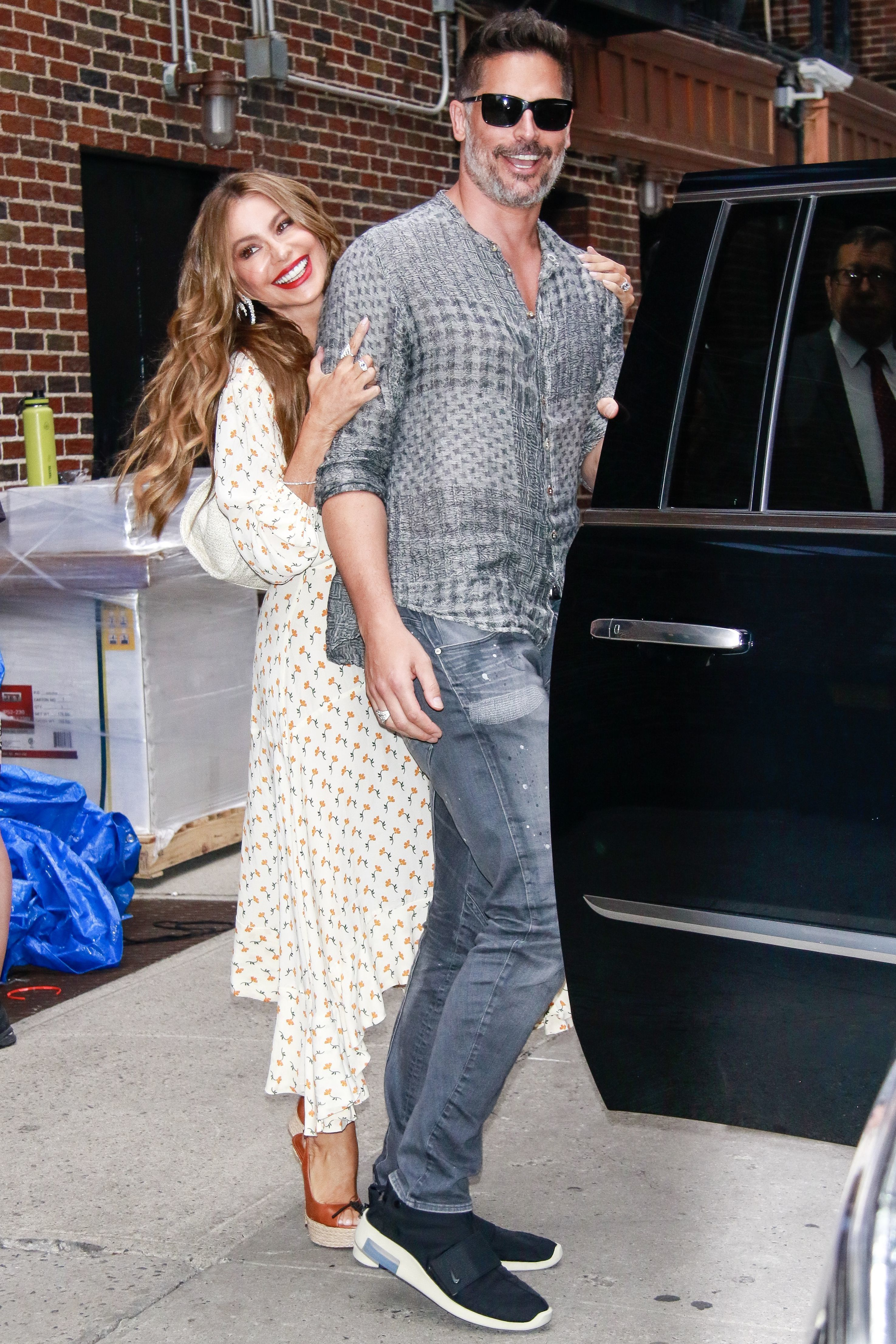 Sofia Vergara and Joe Manganiello looked so cute while leaving 'The Late Show With Stephen Colbert' in New York City on July 17, 2019.
