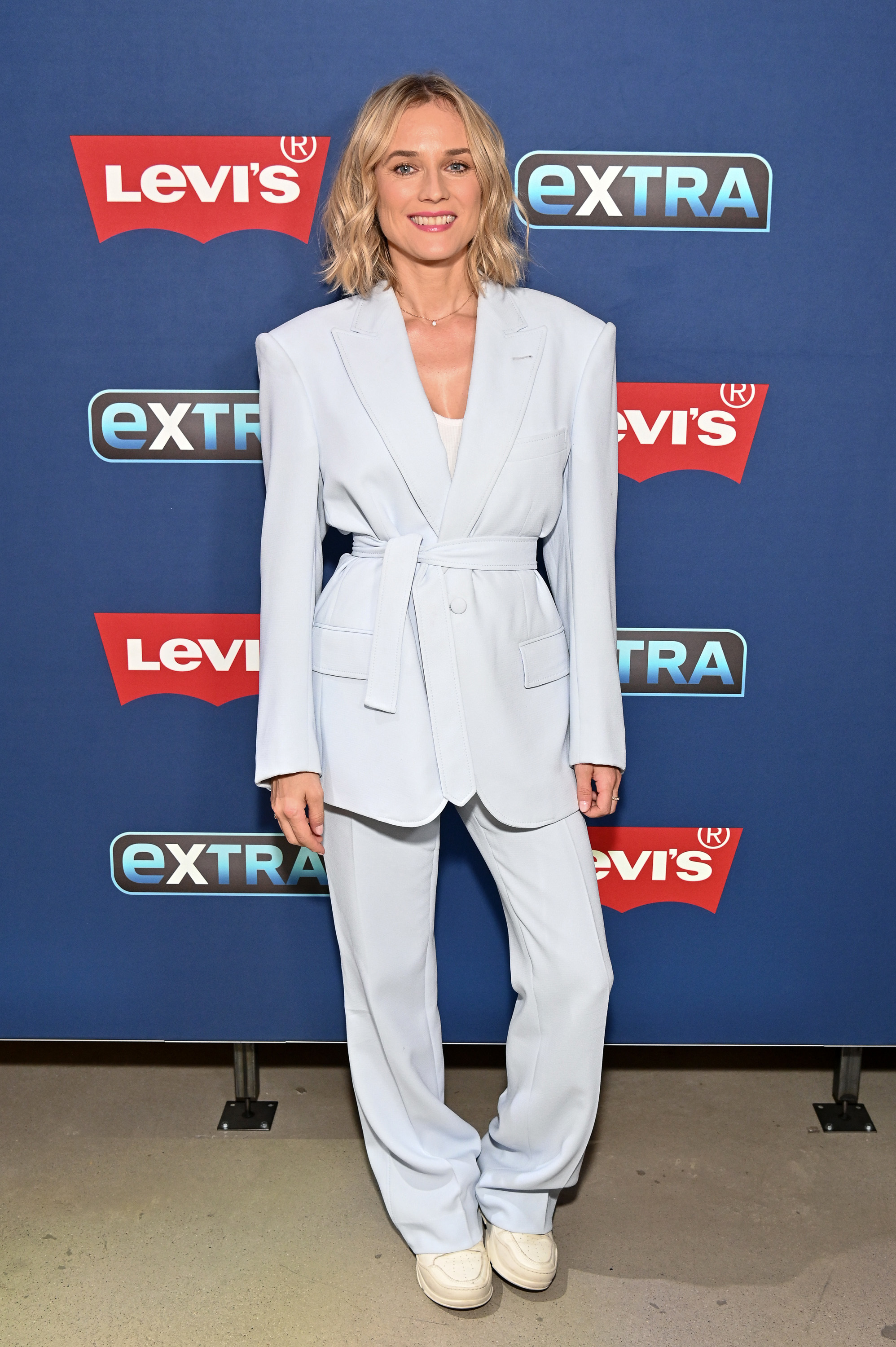 """Diane Kruger visits """"Extra"""" at The Levi's Store Times Square in New York City on July 18, 2019."""
