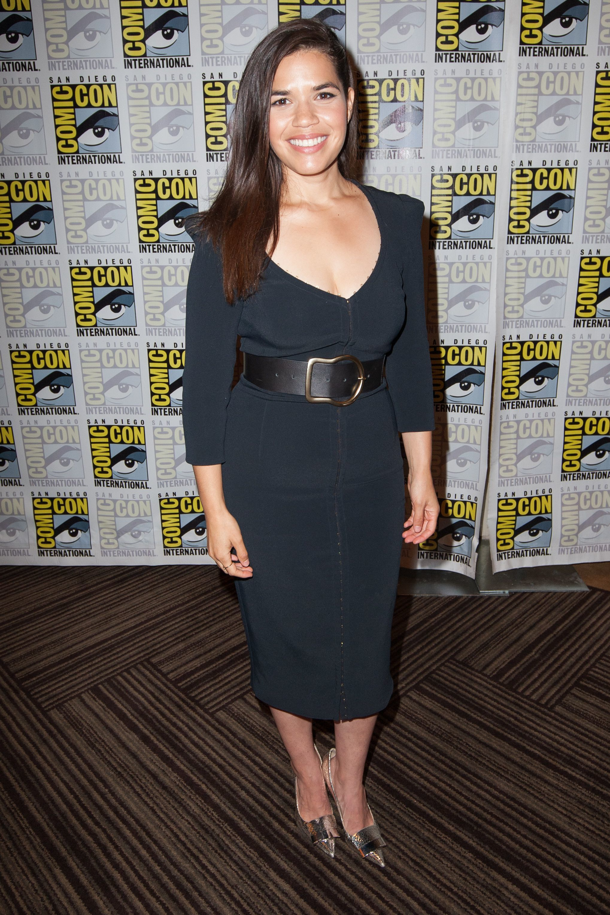 """America Ferrera attends the """"Superstore"""" TV show photocall at Comic Con International in San Diego, California, on July 18, 2019."""