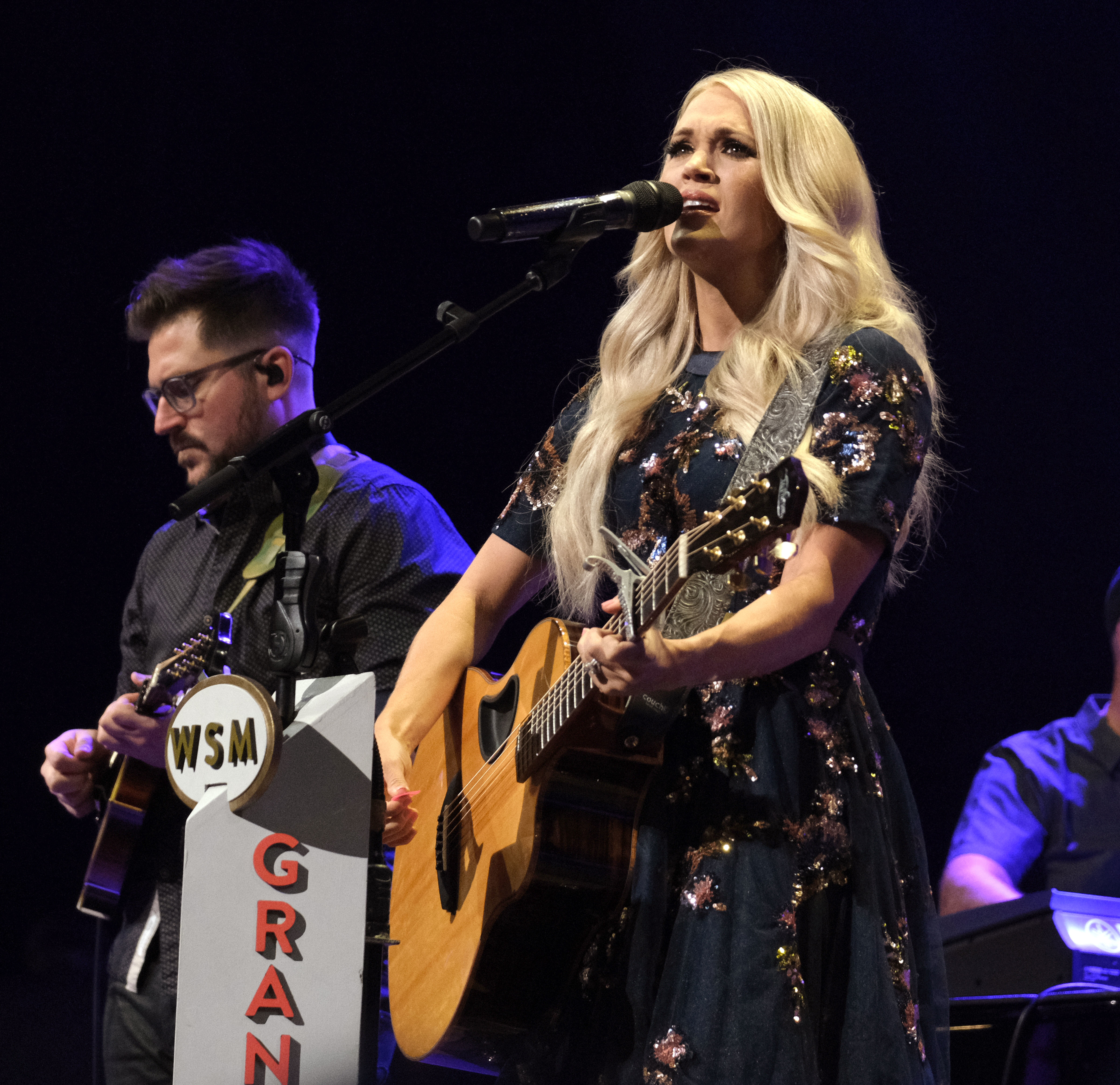 Carrie Underwood performs at The Grand Ole Opry in Nashville on July 19, 2019.