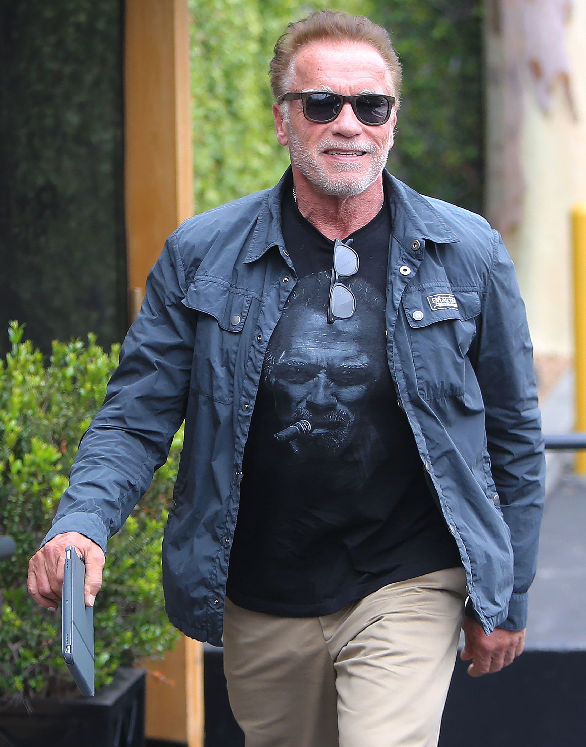 Arnold Schwarzenegger is out and about in Los Angeles on June 6, 2019.