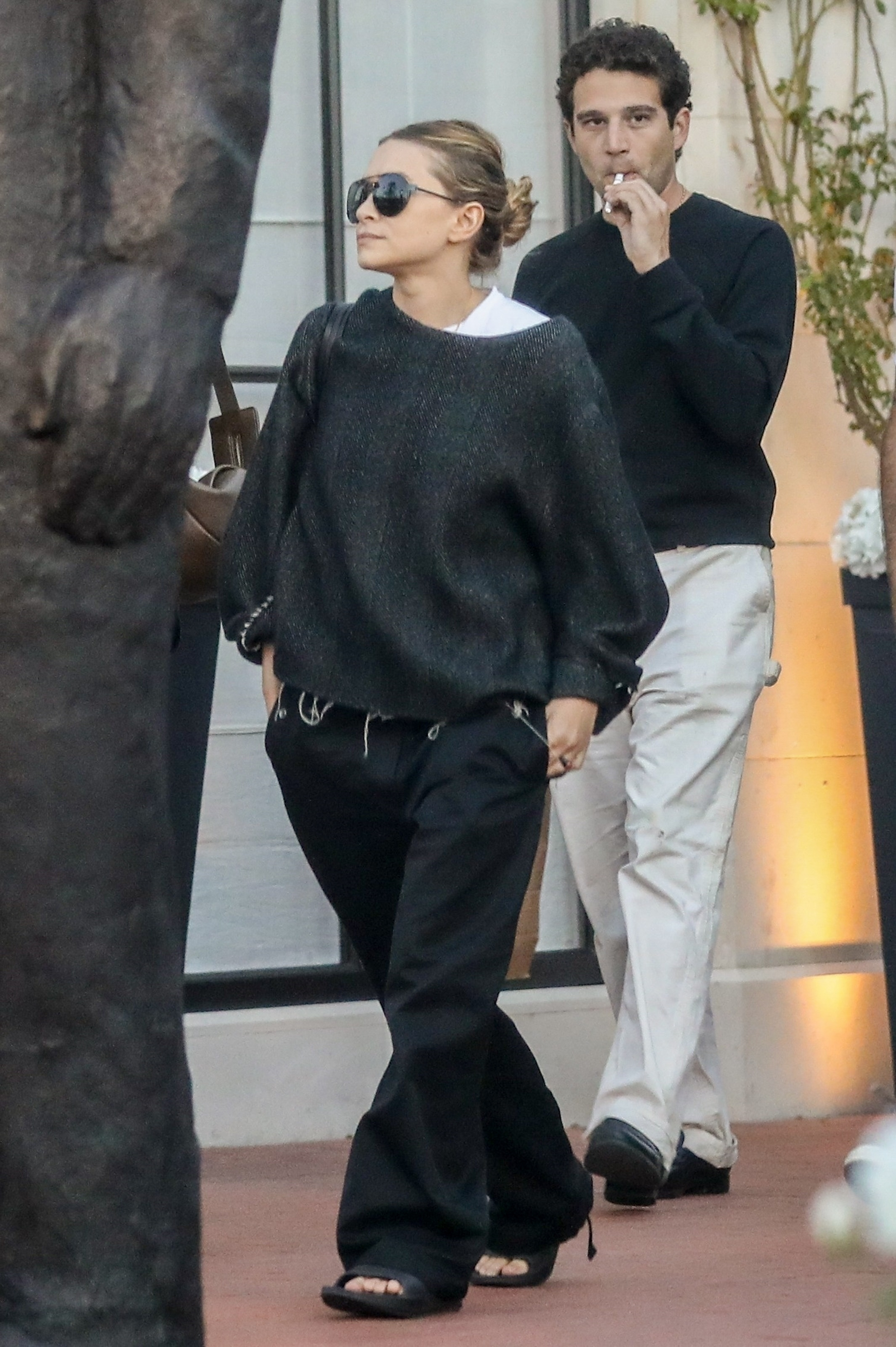 Ashley Olsen and her boyfriend, Louis Eisner, head to the movies in the Pacific Palisades in California on July 29, 2019.