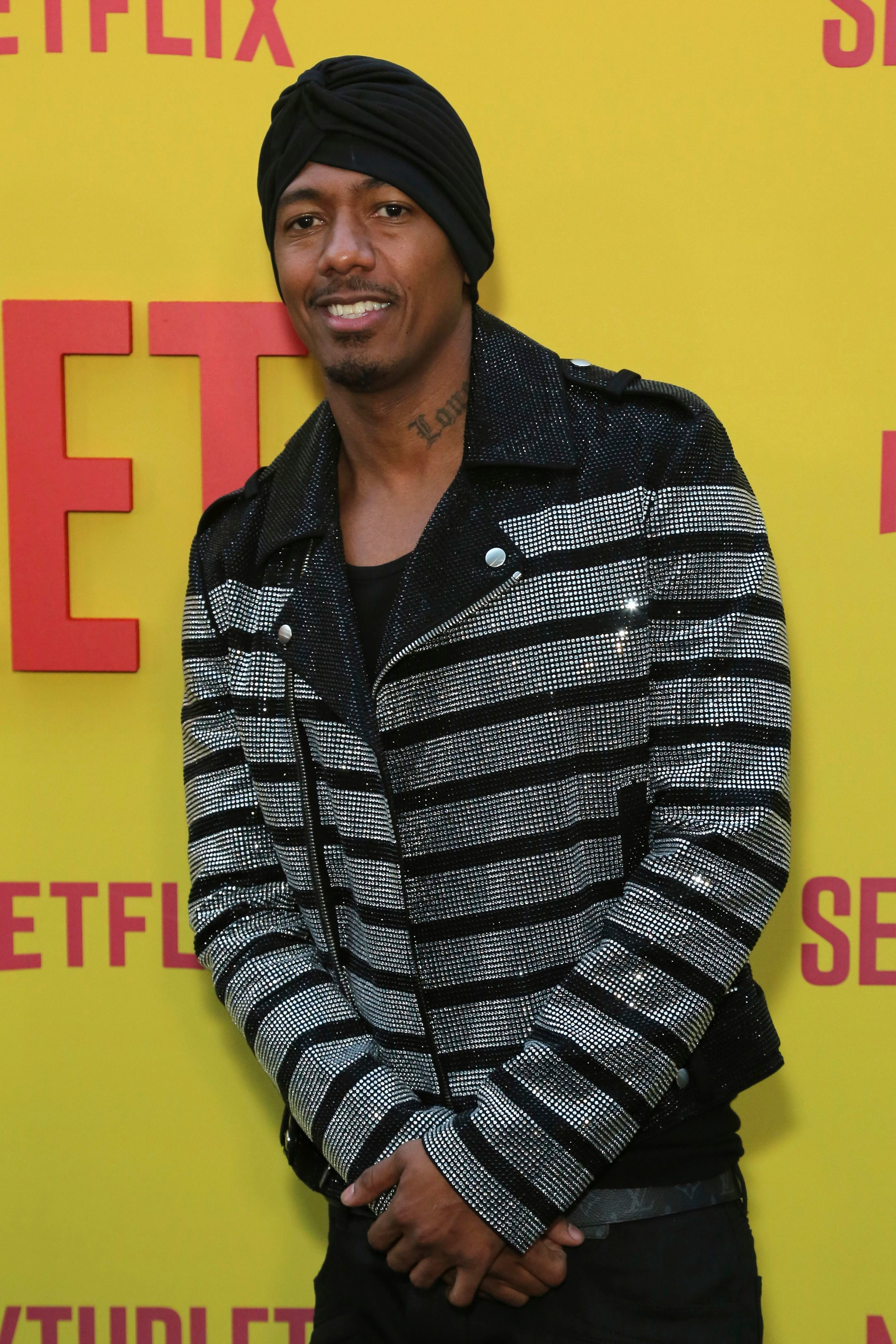 """Nick Cannon attends the premiere of """"Sextuplets"""" at the Arclight Hollywood in Los Angeles on Aug. 7, 2019."""