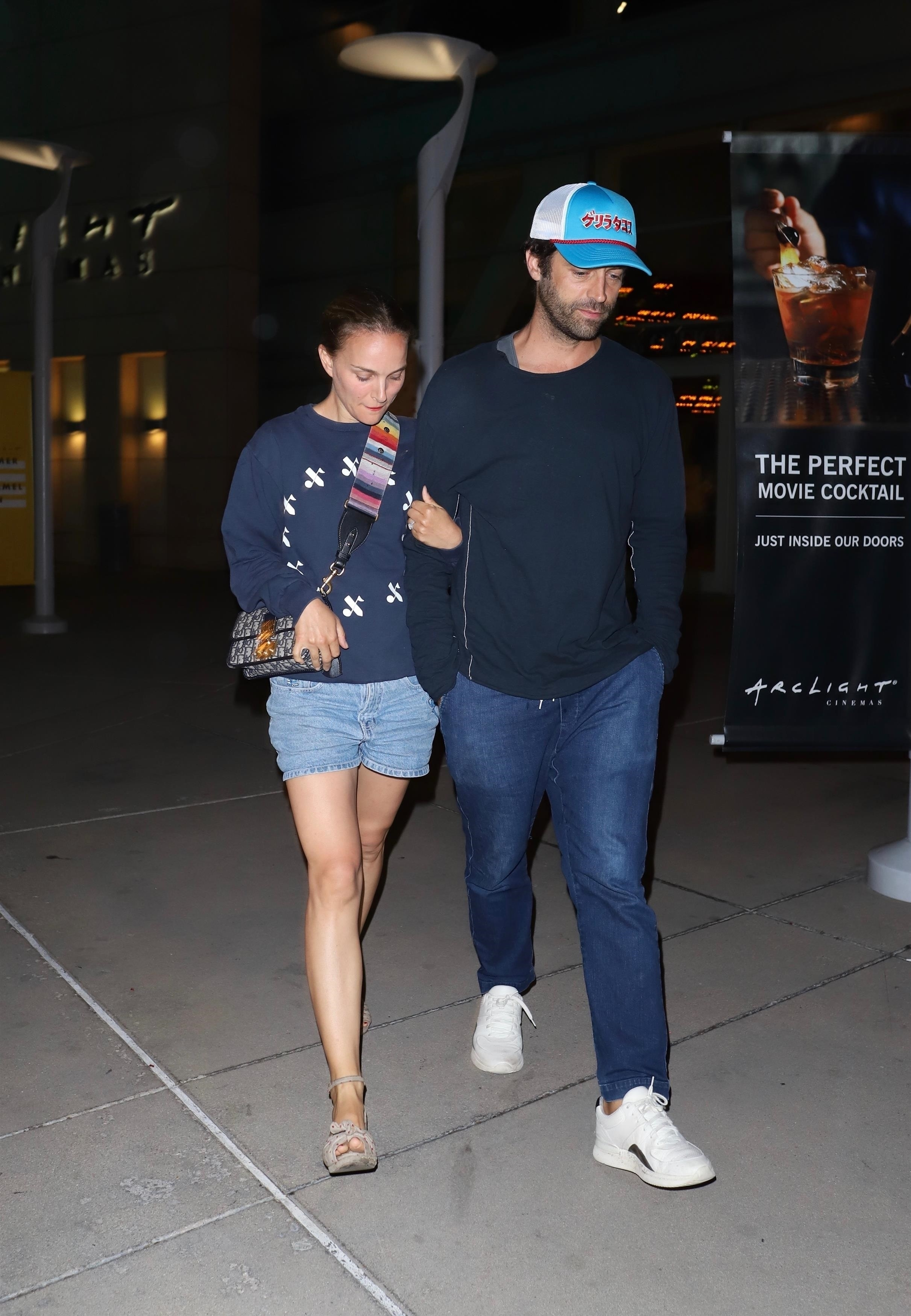 Natalie Portman and Benjamin Millepied enjoyed a date night in Hollywood, CA on July 31, 2019.