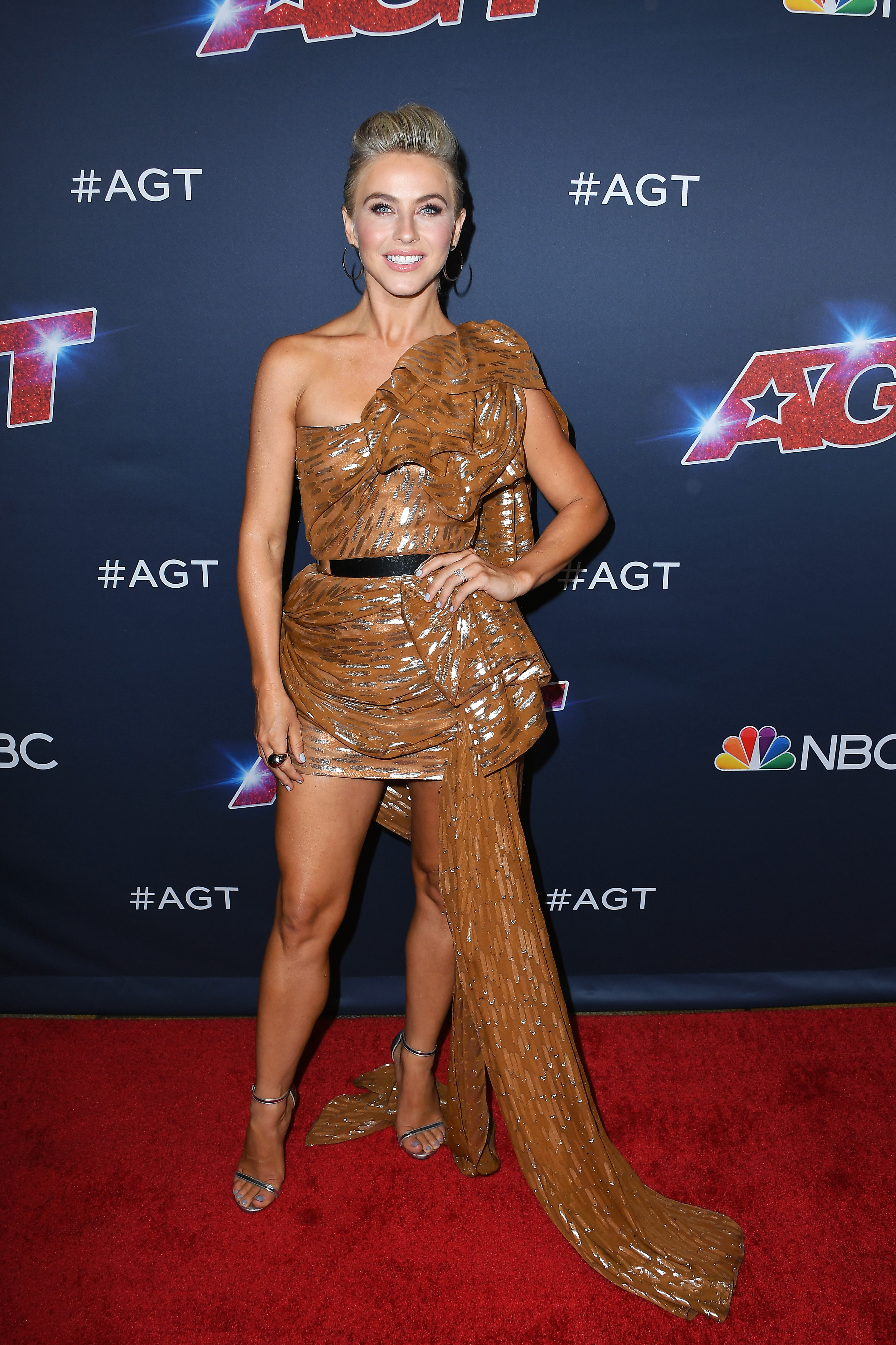 "Julianne Hough attends ""America's Got Talent"" Season 14 Live Show at Dolby Theatre in Hollywood, California, on August 13, 2019."