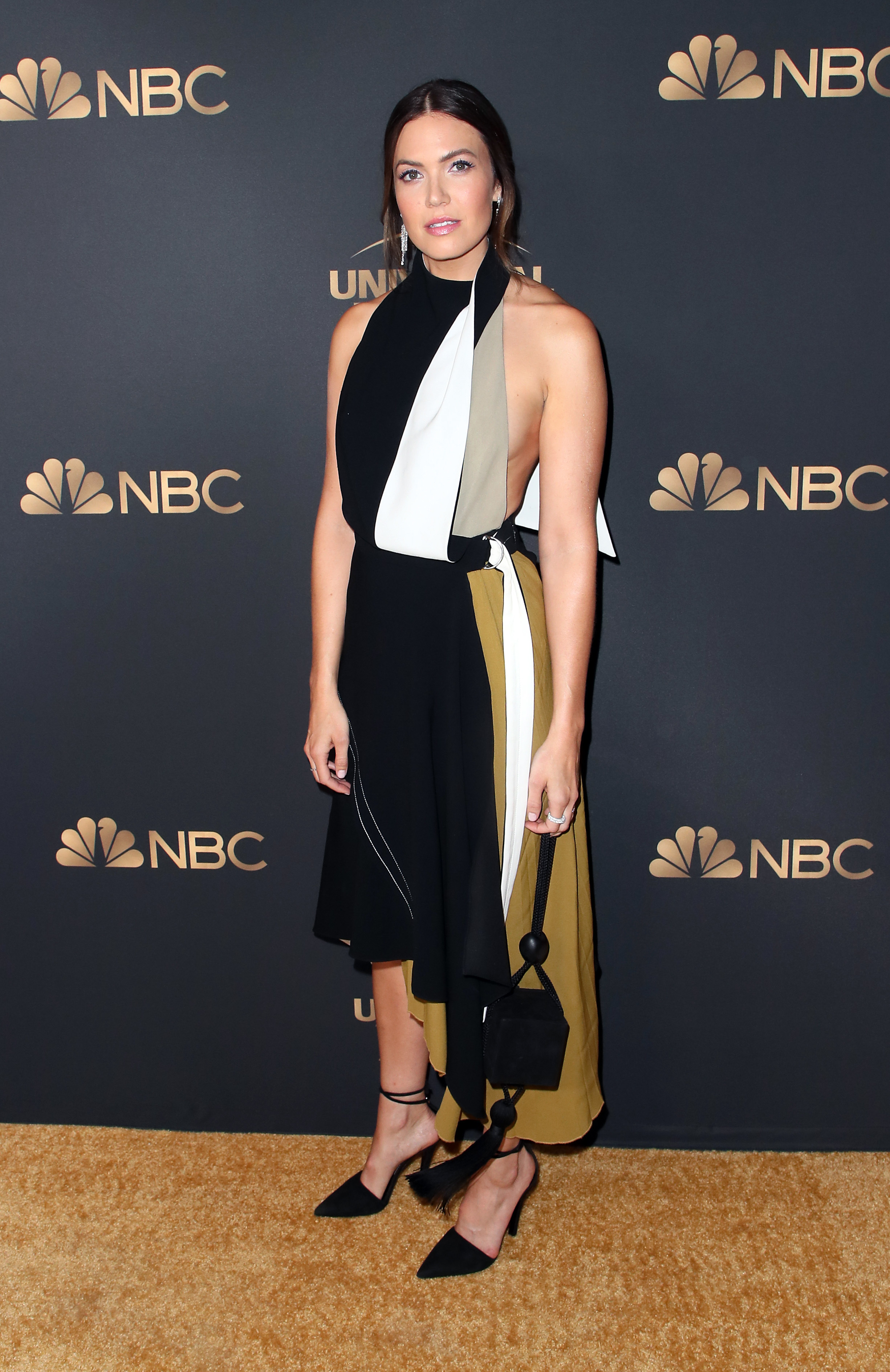 Mandy Moore attends the NBC and Universal EMMY nominee celebration at Tesse Restaurant in West Hollywood, California, on August 13, 2019.