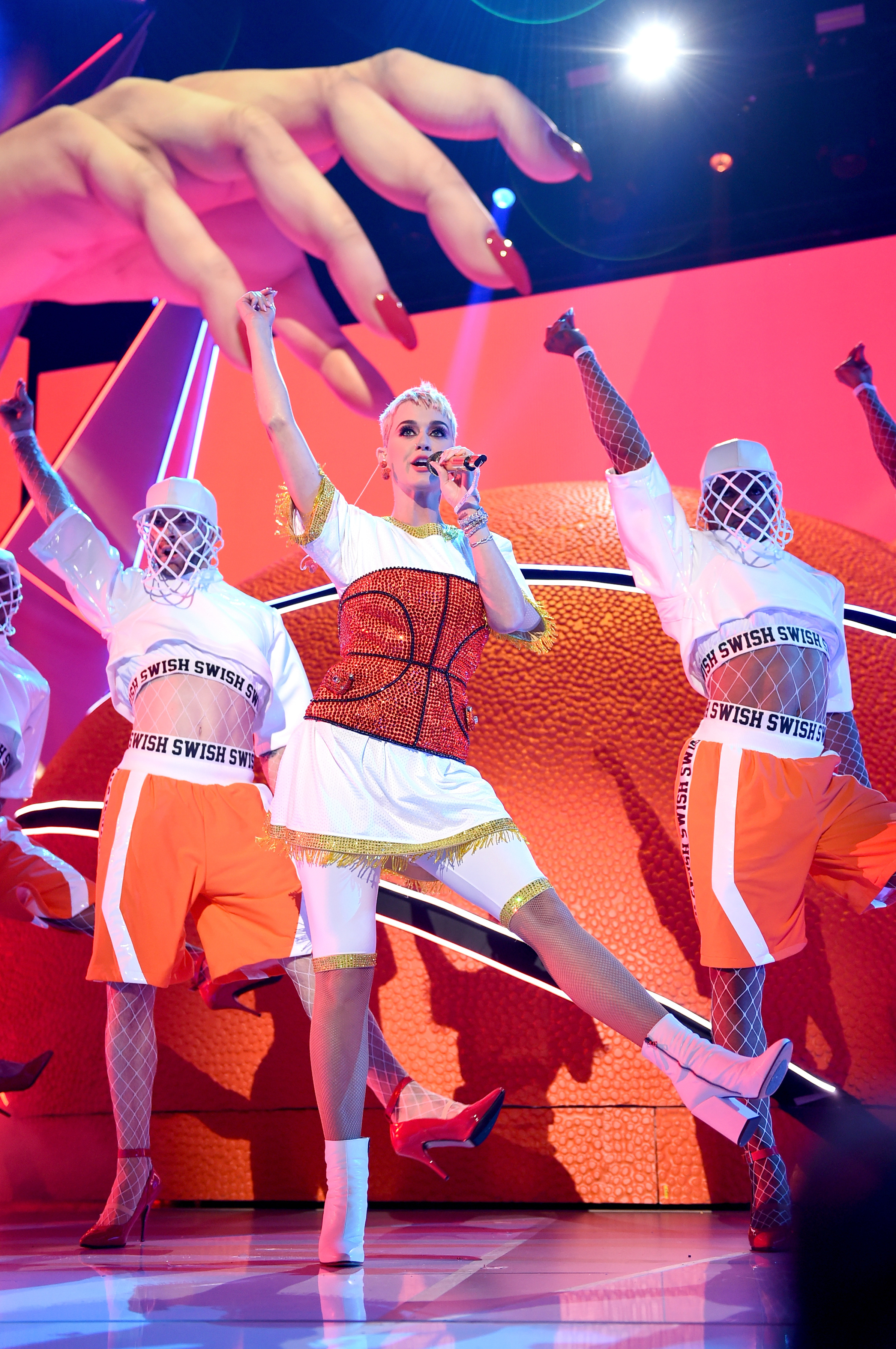 Katy Perry performs onstage during the 2017 MTV Video Music Awards in Los Angeles on Aug. 27, 2017.
